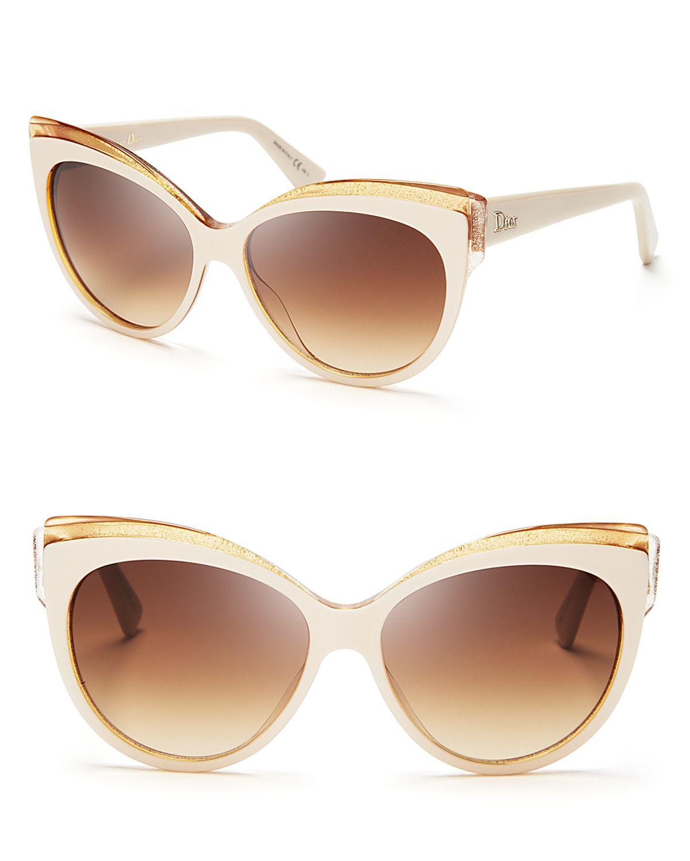 fa8fdb1fdb Dior Glisten Cat Eye Sunglasses in Natural - Lyst