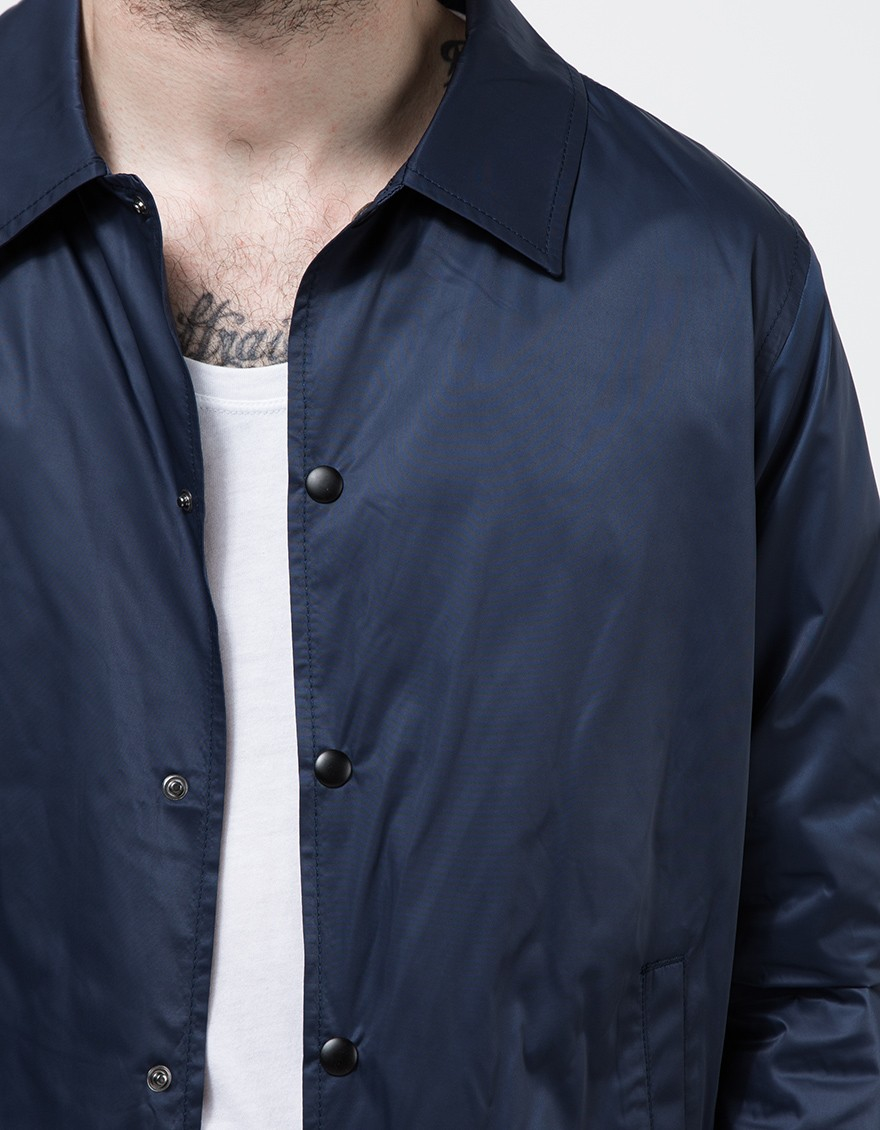 bd9919634a5d Lyst - TOPMAN Navy Nylon Coach Jacket in Blue for Men