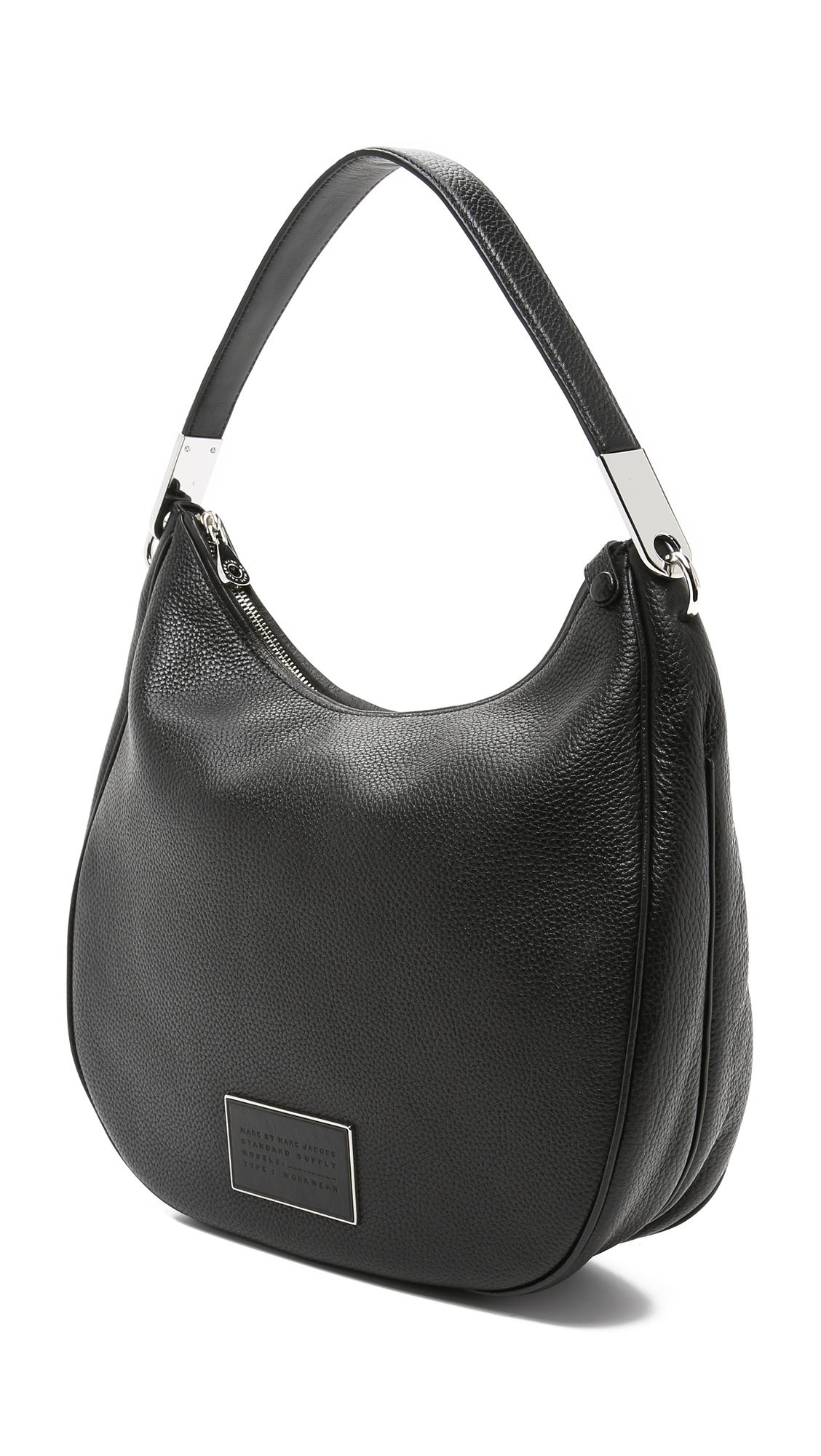 Marc by marc jacobs Ligero Hobo Bag - Black in Black | Lyst