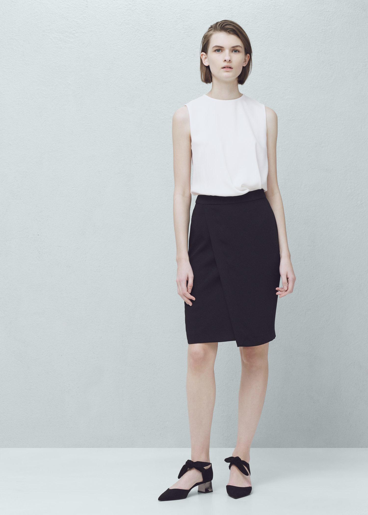 Lyst Mango Bicolor Dress In Black