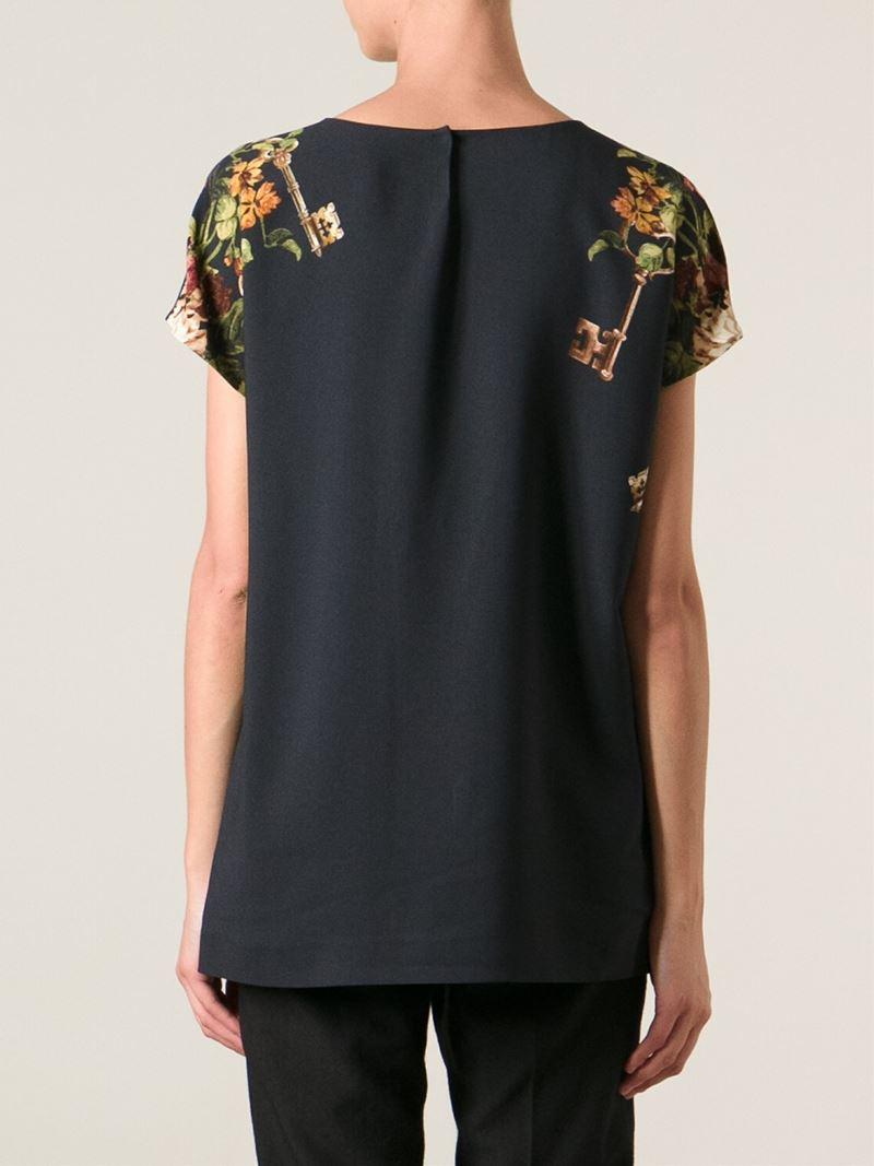 dolce gabbana key print t shirt in black lyst. Black Bedroom Furniture Sets. Home Design Ideas