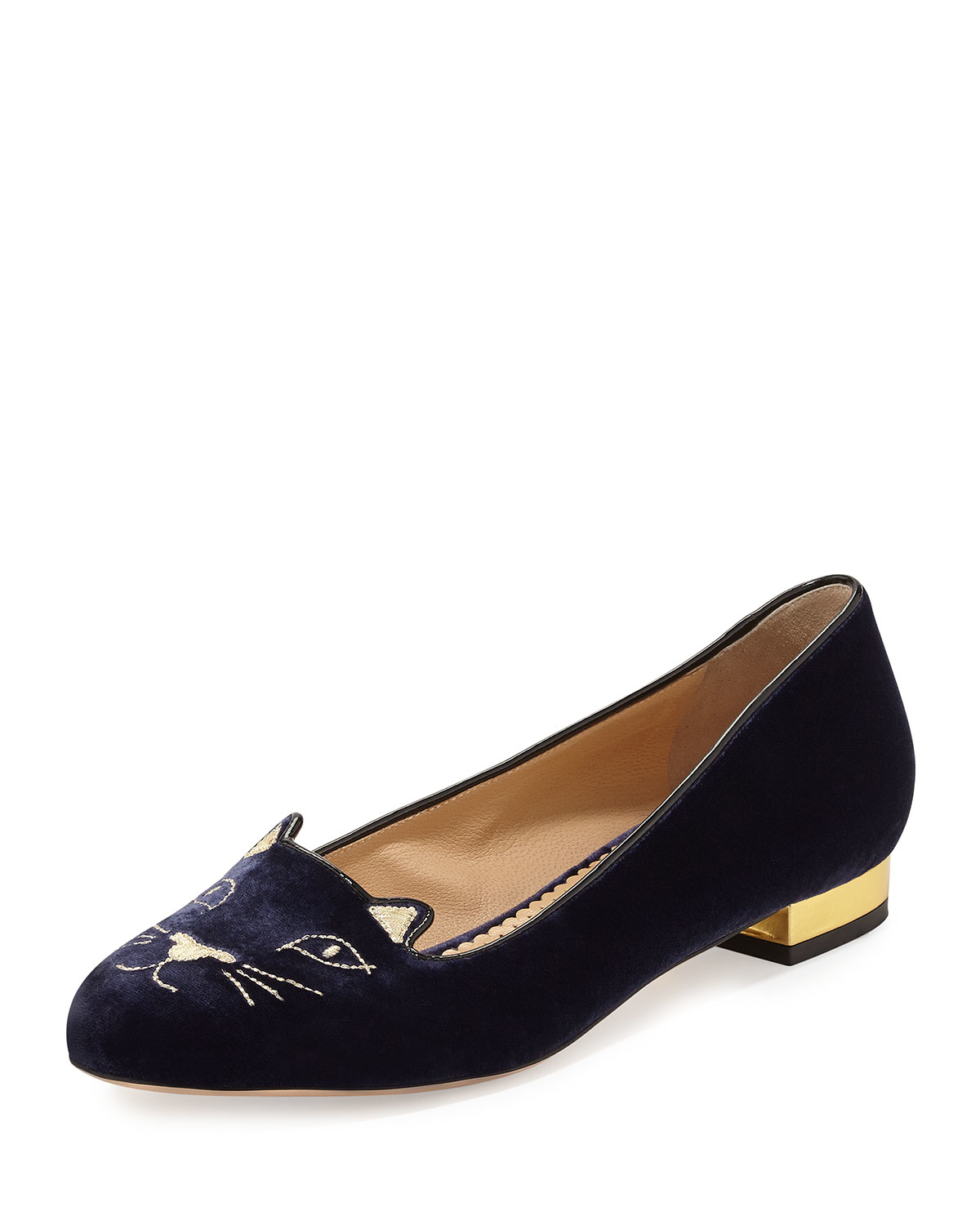 Charlotte Olympia Kitty Flat Shoes
