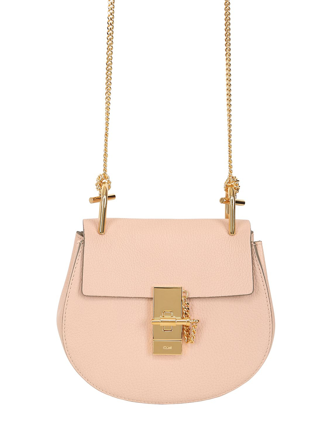 Lyst Chlo 233 Mini Drew Grained Nappa Leather Bag In Pink