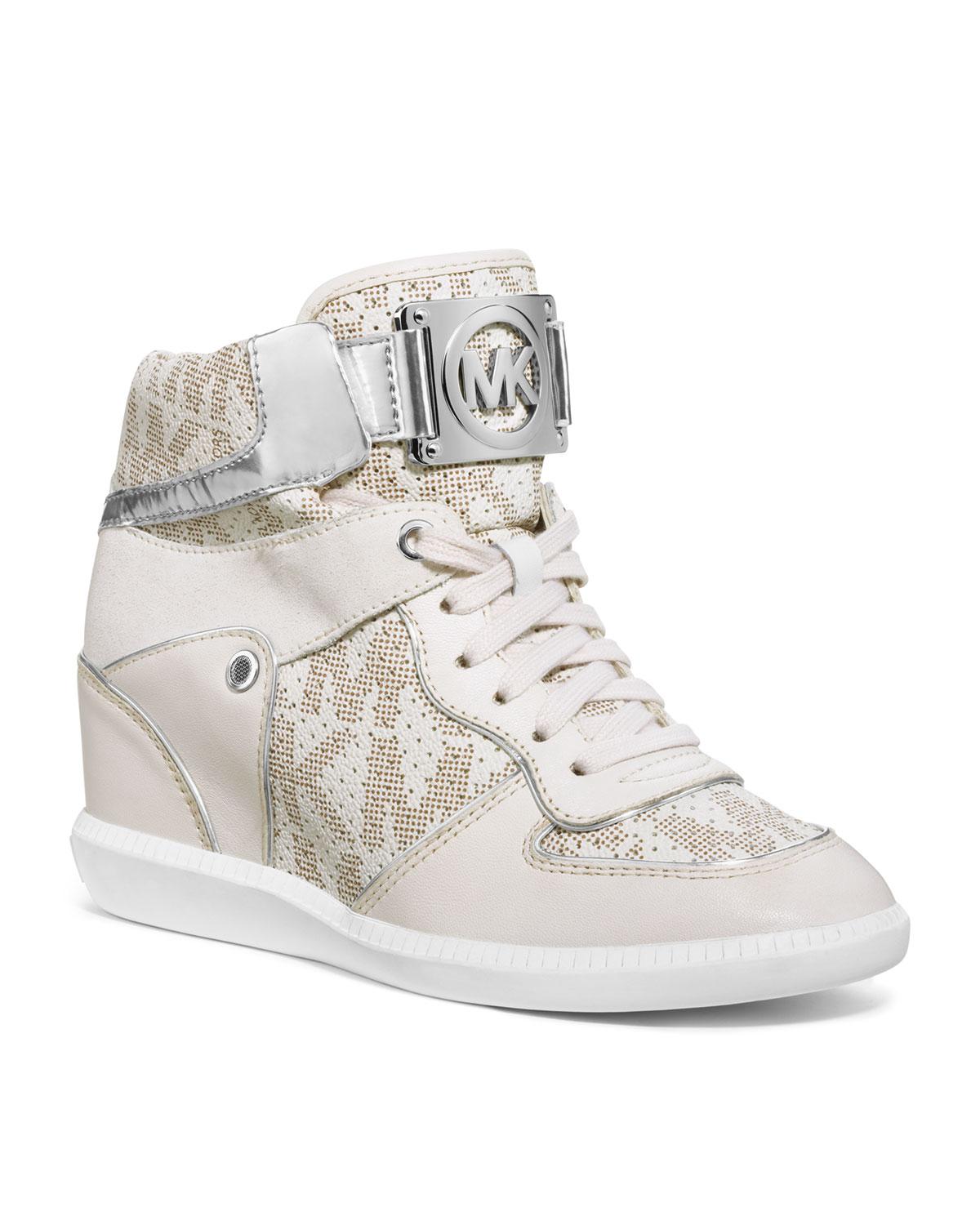 e74b1c7e96e76 Lyst - Michael Kors Nikko High Top Sneaker in White