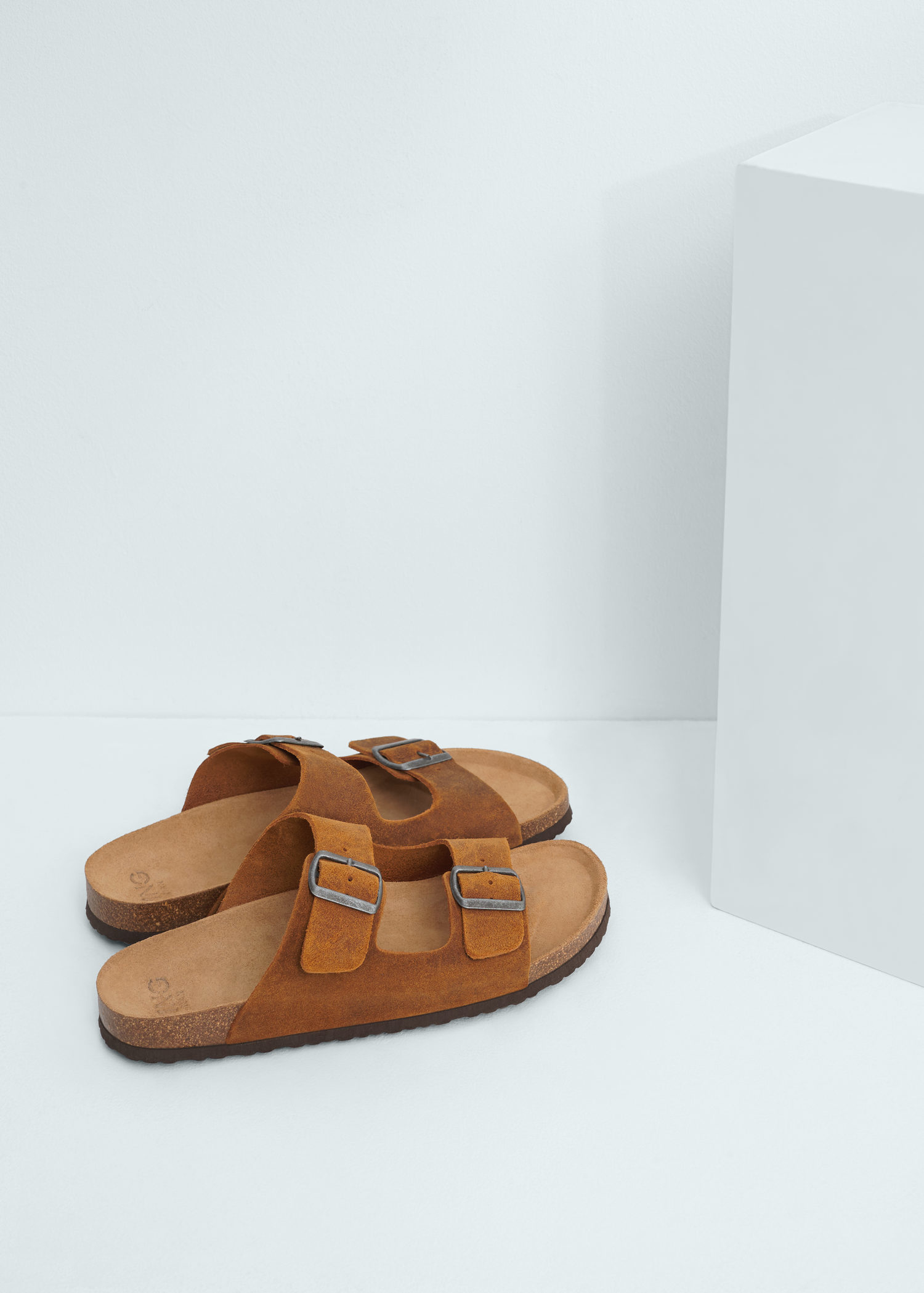 MANGO Buckle suede sandals 3kQPJD5d6v
