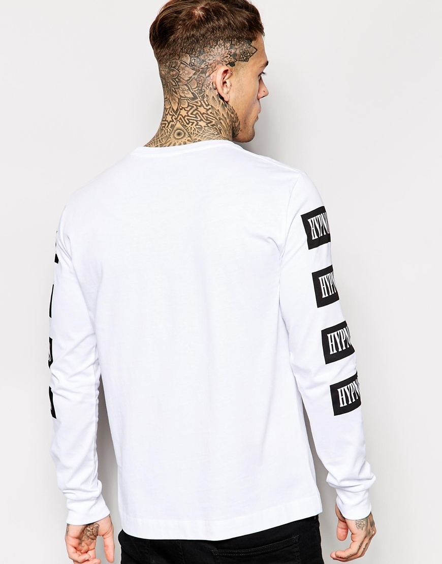 love moschino long sleeve t shirt in white for men lyst. Black Bedroom Furniture Sets. Home Design Ideas