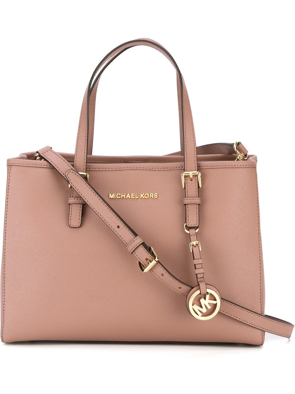 MICHAEL Michael Kors Jet Set Travel Medium Tote Bag in Pink - Lyst 9395a3552edc