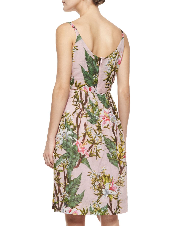 1fd5f3ab304f Lyst - Étoile Isabel Marant Welby Floral-print Pleated Dress