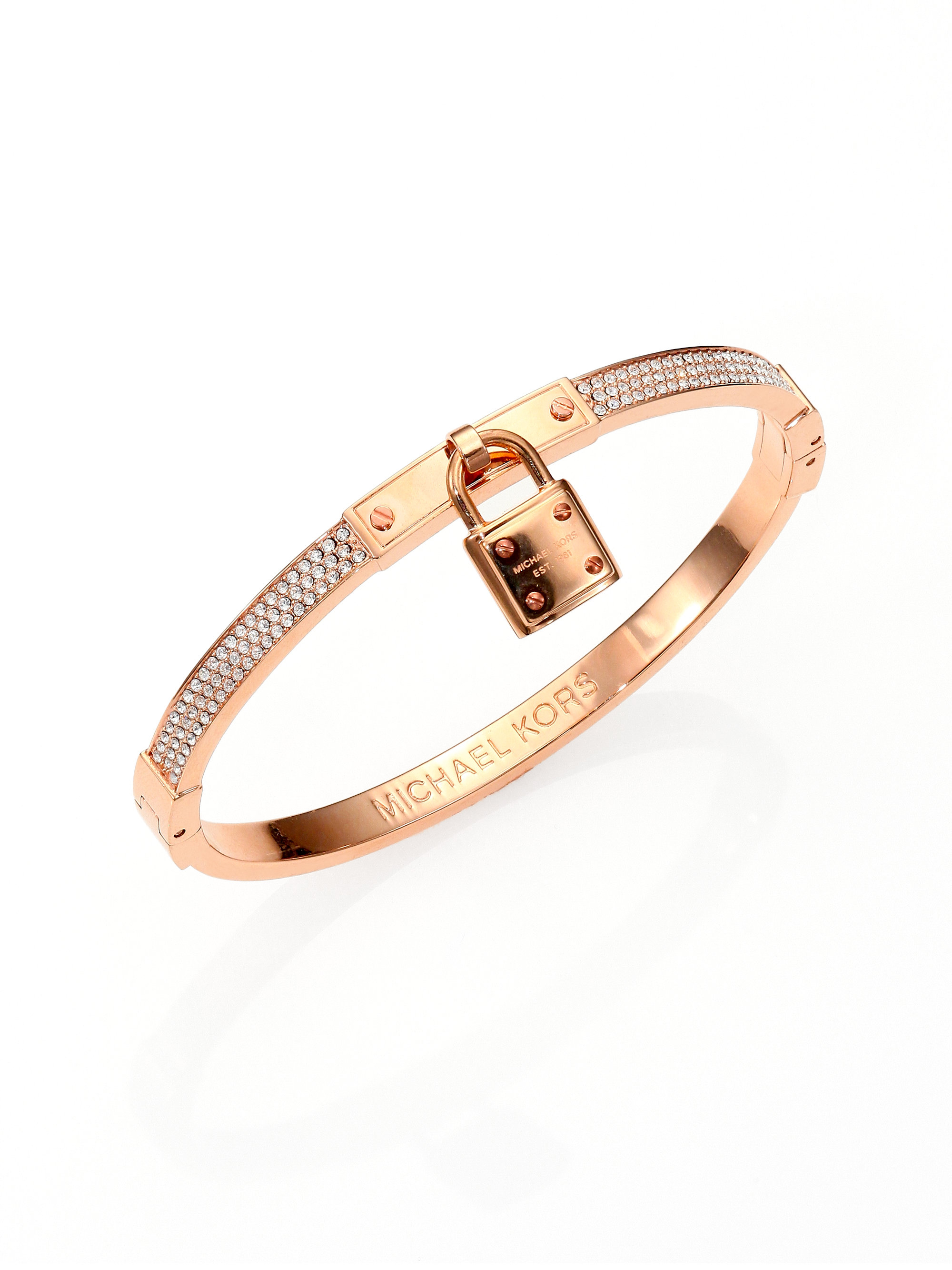 rose bangles lyst anne bangle bracelet half jewelry women diamond gold s sisteron glisten