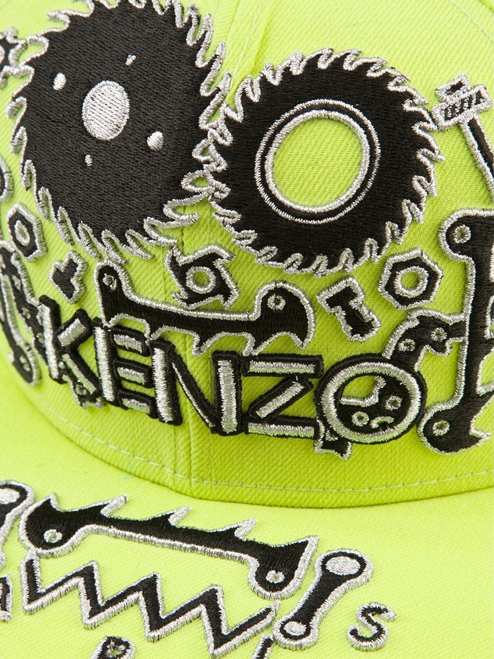 bb3e23c2266 Lyst - KENZO Monster New Era Cap in Green for Men