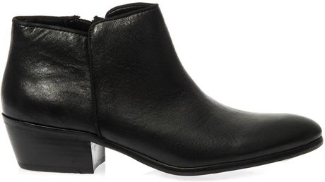 sam edelman petty leather ankle boots in black lyst