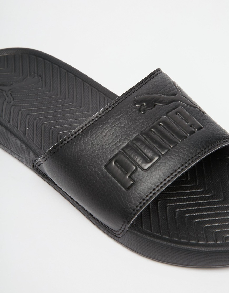 7125f4326c4e Lyst - PUMA Popcat Slider Flip Flops in Black for Men
