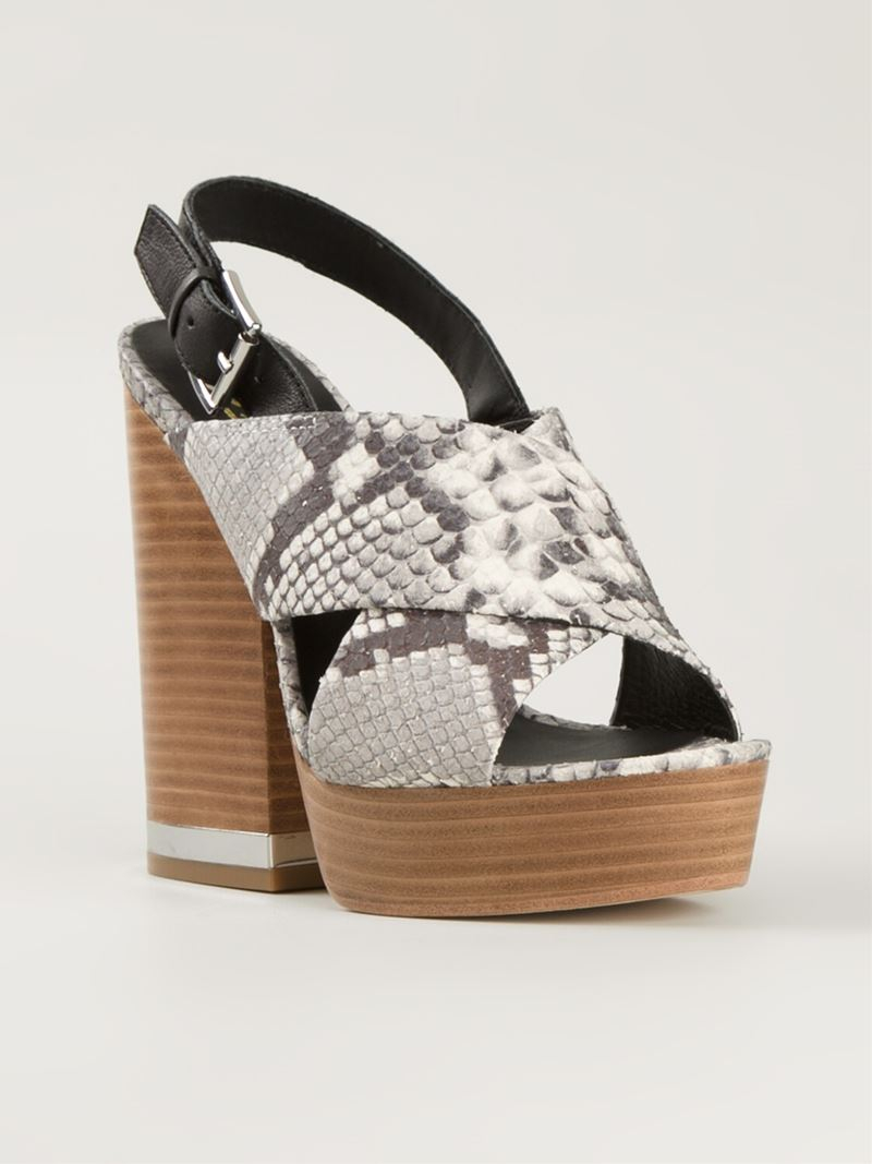 prices online Ash Snakeskin Cage Sandals clearance eastbay Wy6ea