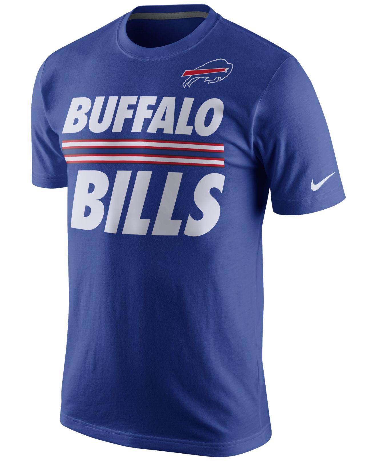 nike s buffalo bills team stripe t shirt in blue for