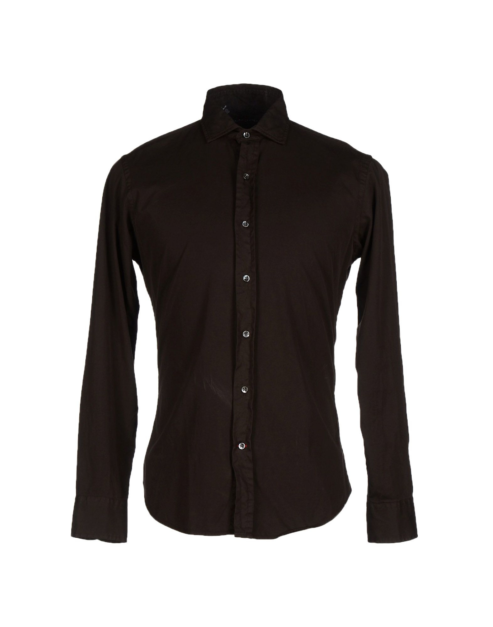 Ralph lauren black label shirt in brown for men lyst for Black brown mens shirts
