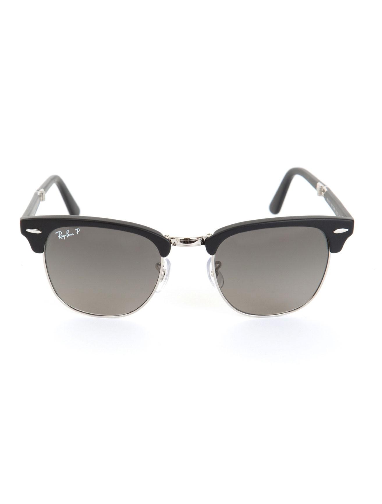 ray ban clubmaster matte black sunglasses in black for men. Black Bedroom Furniture Sets. Home Design Ideas