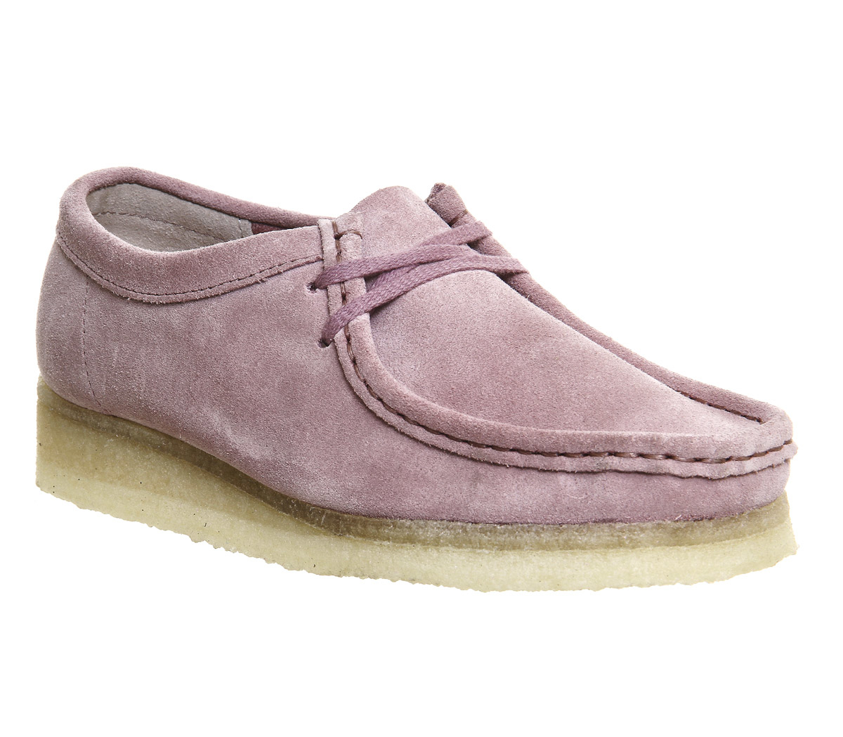 clarks wallabee suede ankle boots in pink lyst