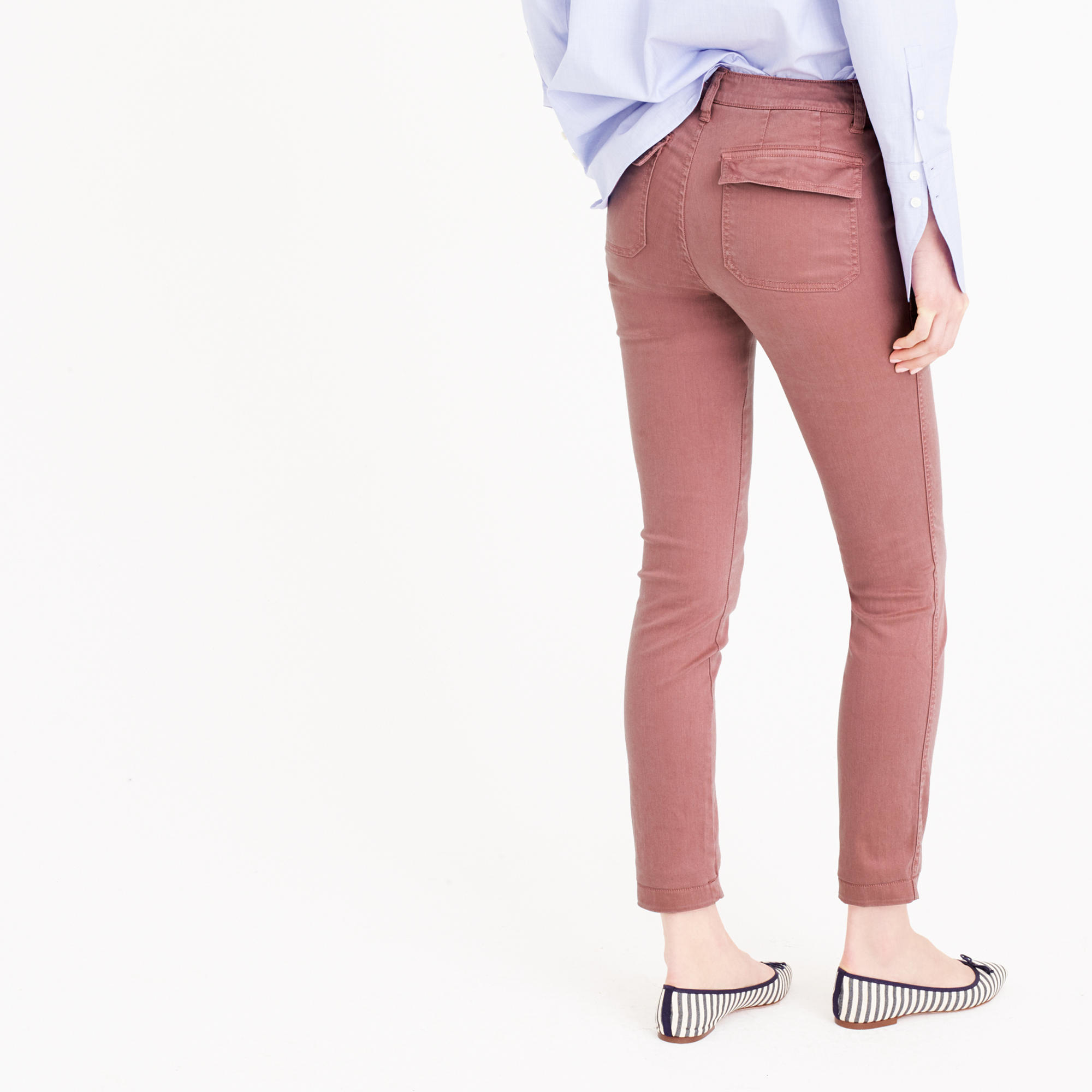 90daee9818 J.Crew Tall Skinny Stretch Cargo Pant in Pink - Lyst
