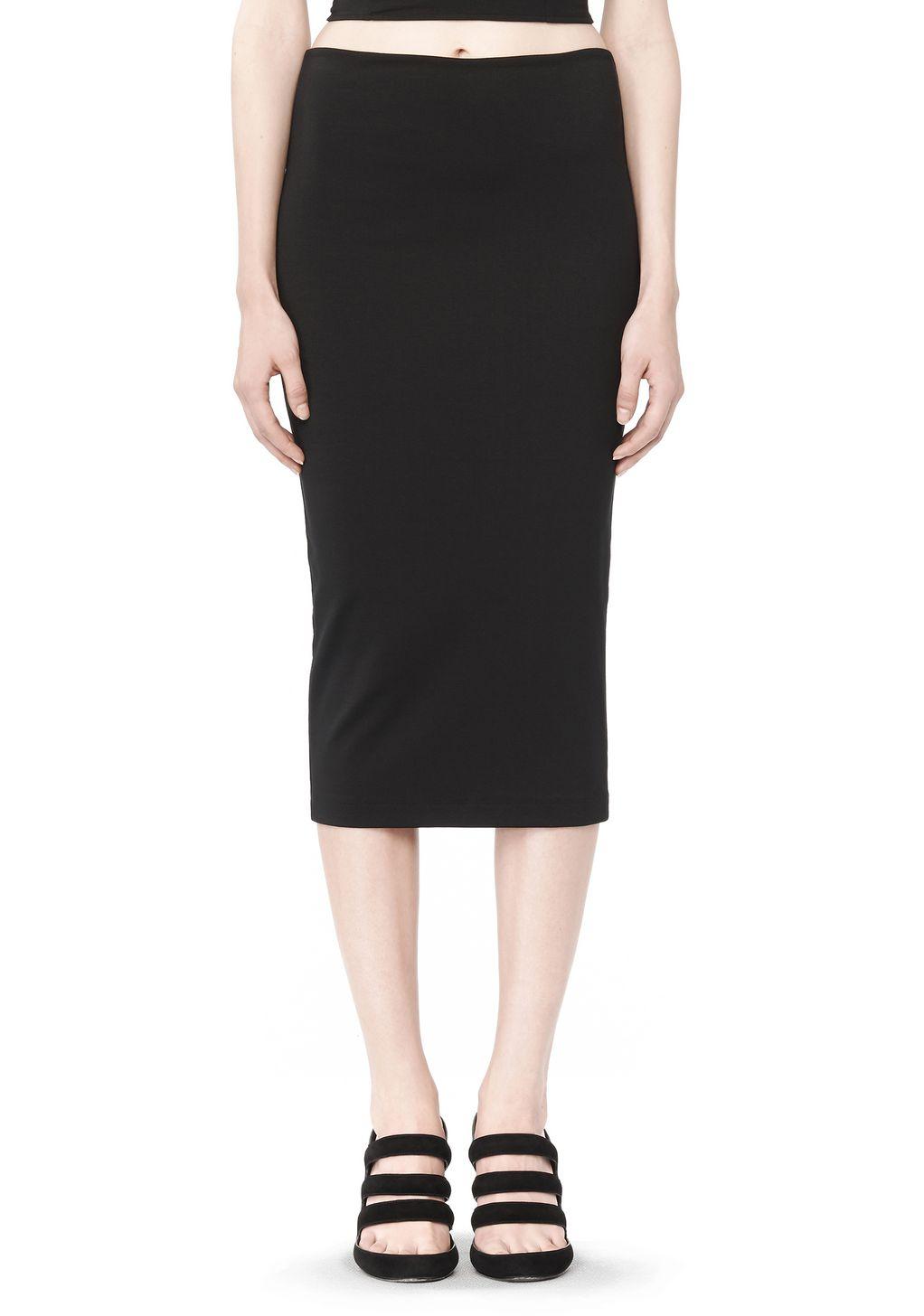 wang midi pencil skirt in black lyst