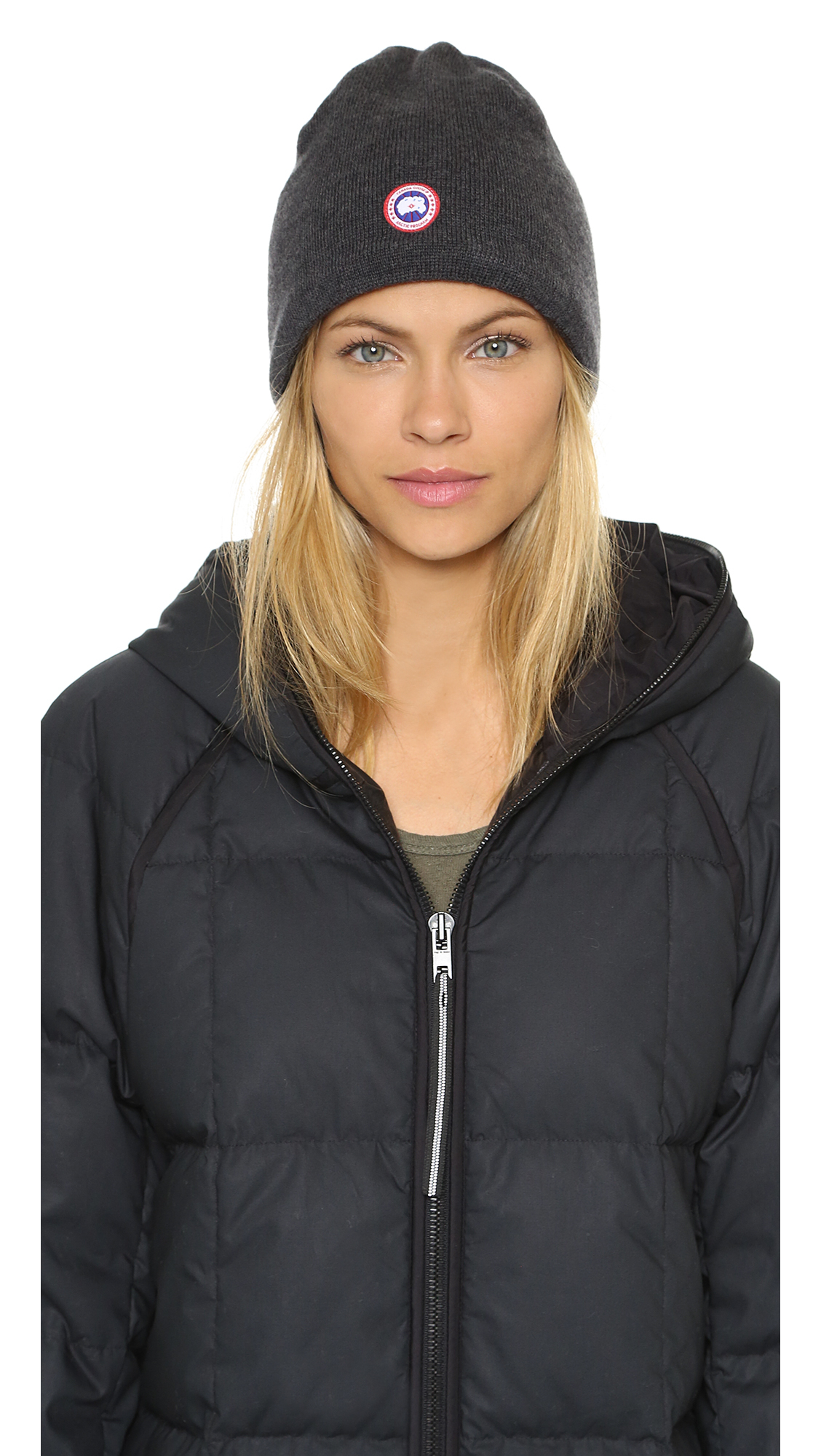 Canada Goose hats sale fake - Canada goose Merino Wool Beanie - Black in Gray (Graphite) | Lyst