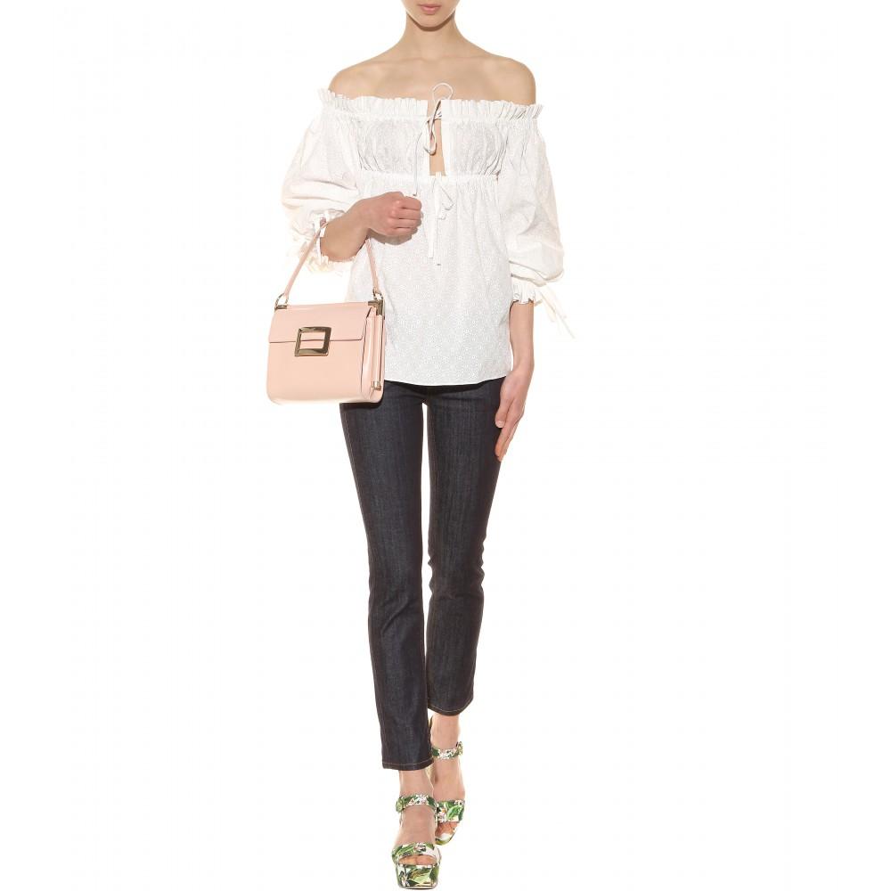 fb255d89893 Roger Vivier Miss Viv Leather Shoulder Bag in Pink - Lyst