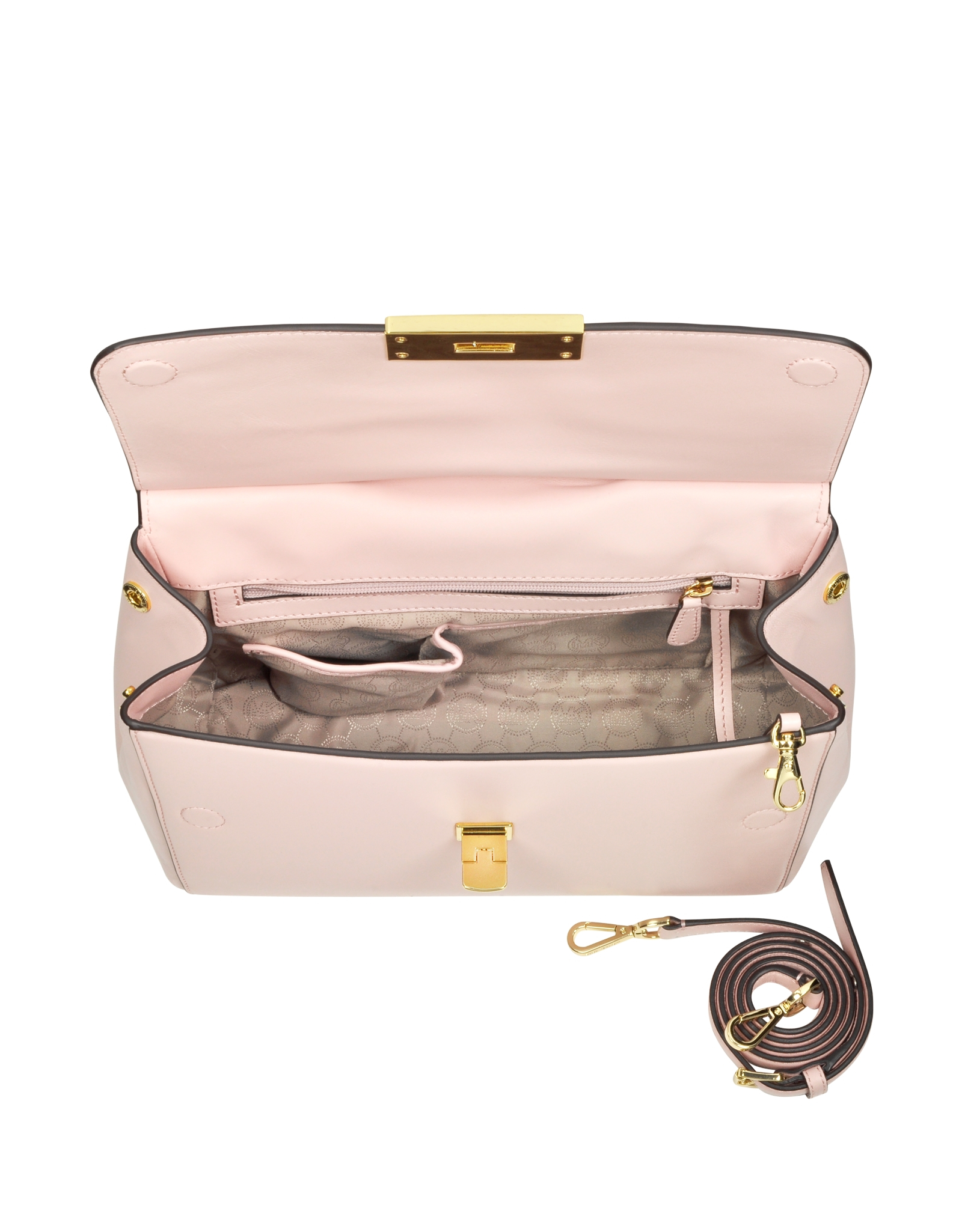 2fe777295e8c Michael Kors Marlow Large Leather Satchel Bag in Pink - Lyst
