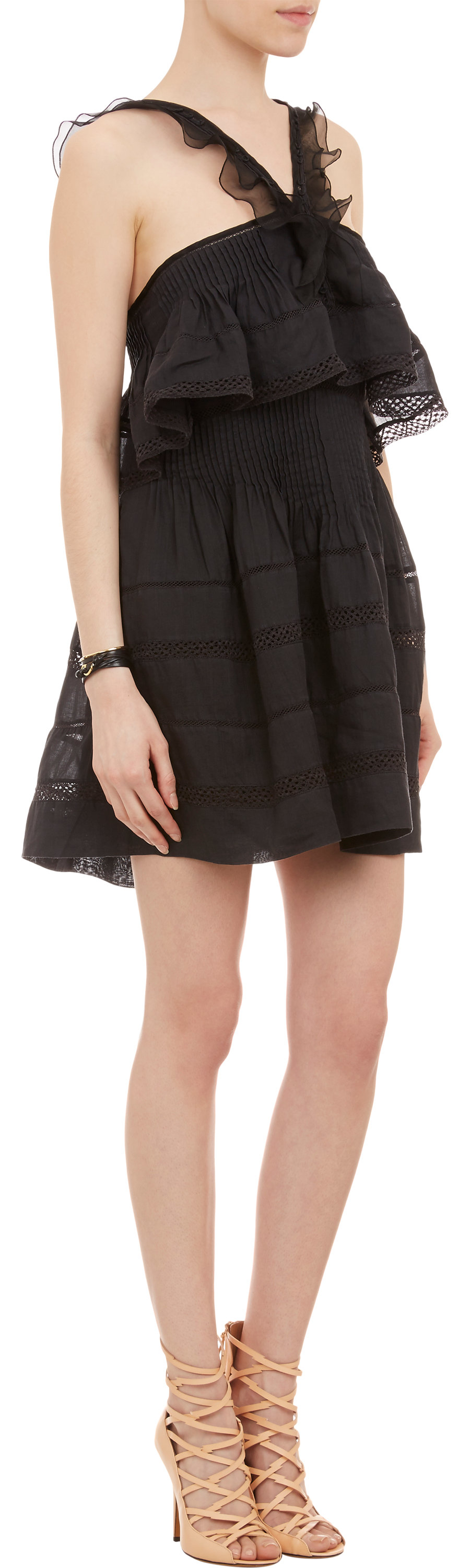 Lyst Isabel Marant Obira Dress In Black