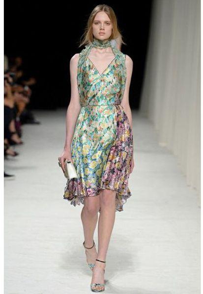 Nina Ricci Floral Pleated