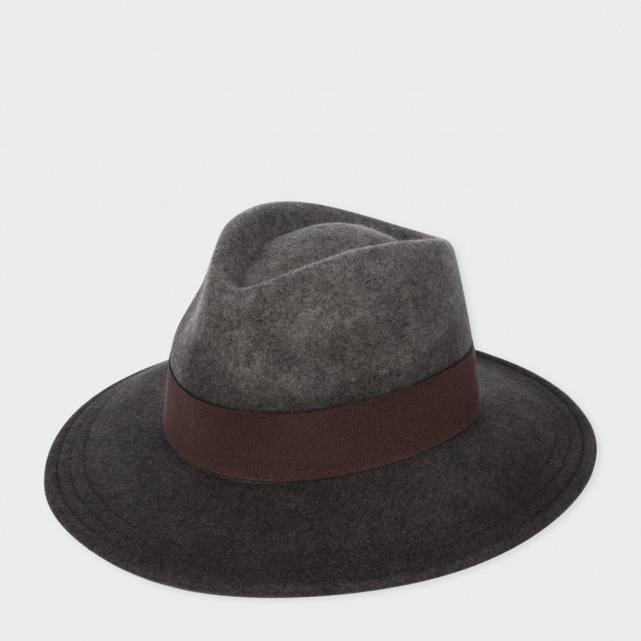 Paul smith Women's Grey Dégradé Wool-felt Fedora Hat in ...
