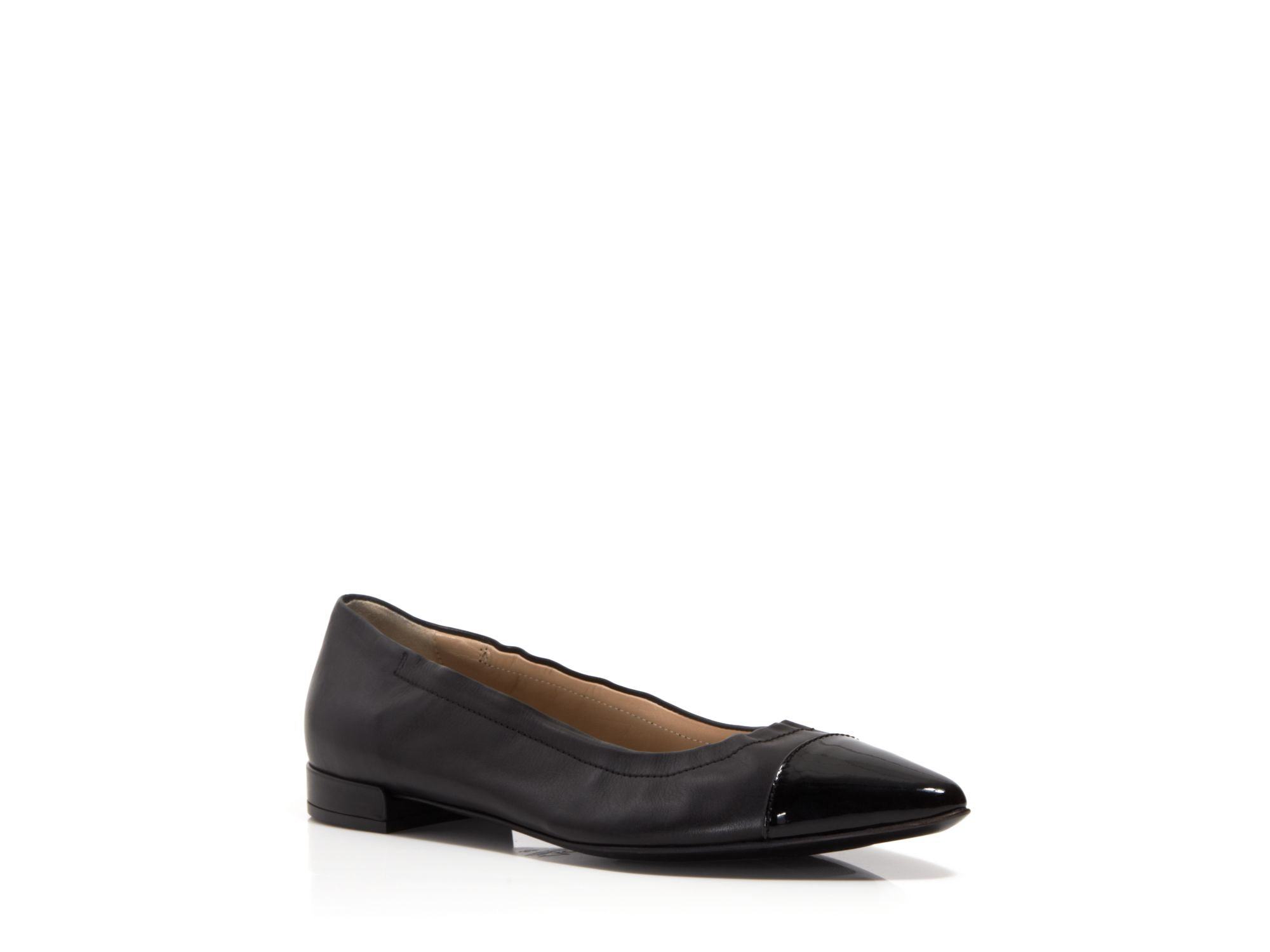 100% guaranteed for sale 2014 unisex Attilio Giusti Leombruni Leather Cap-Toe Flats outlet latest collections 7C4GqB