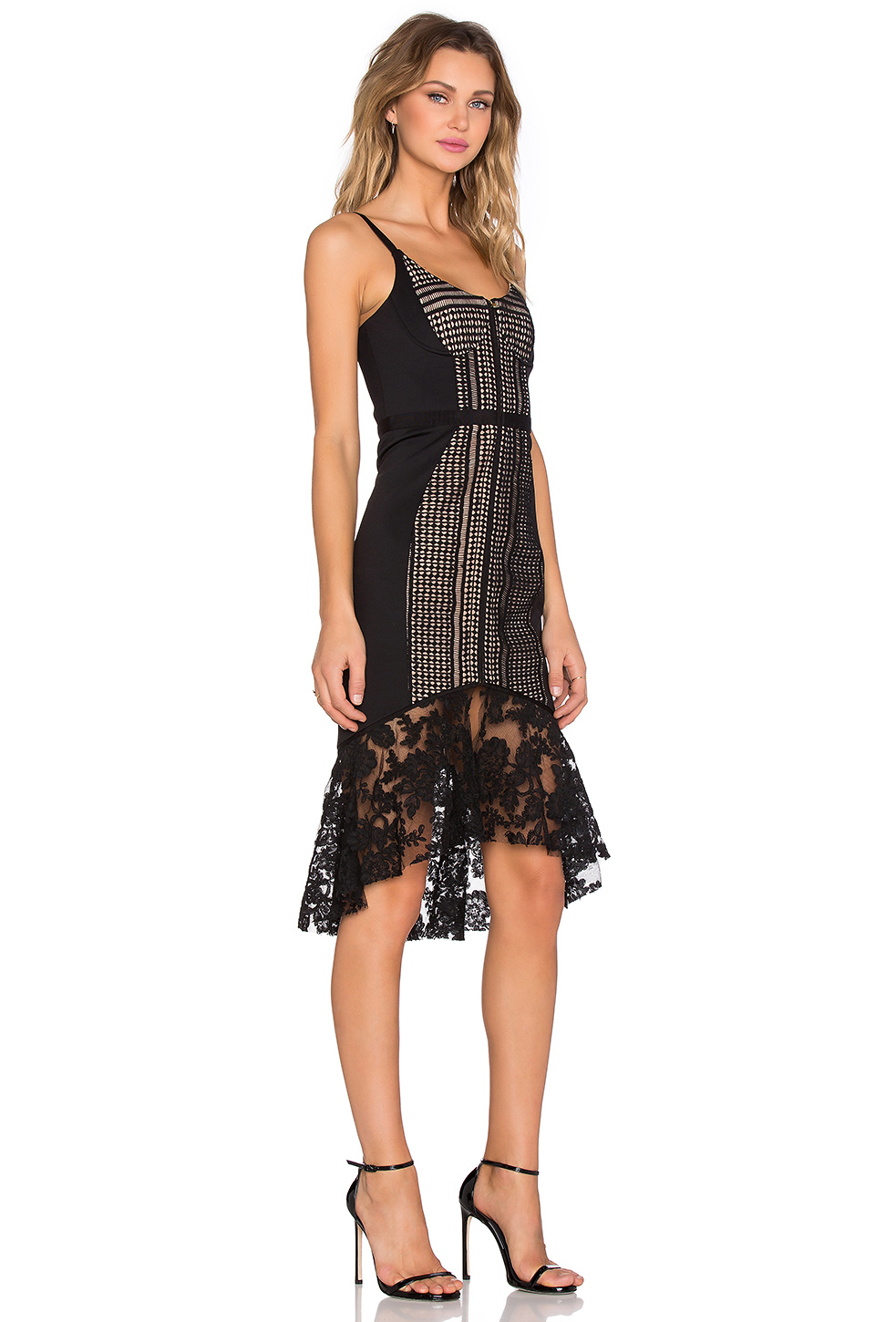 Lyst three floor amplify dress in black for 11th floor apparel