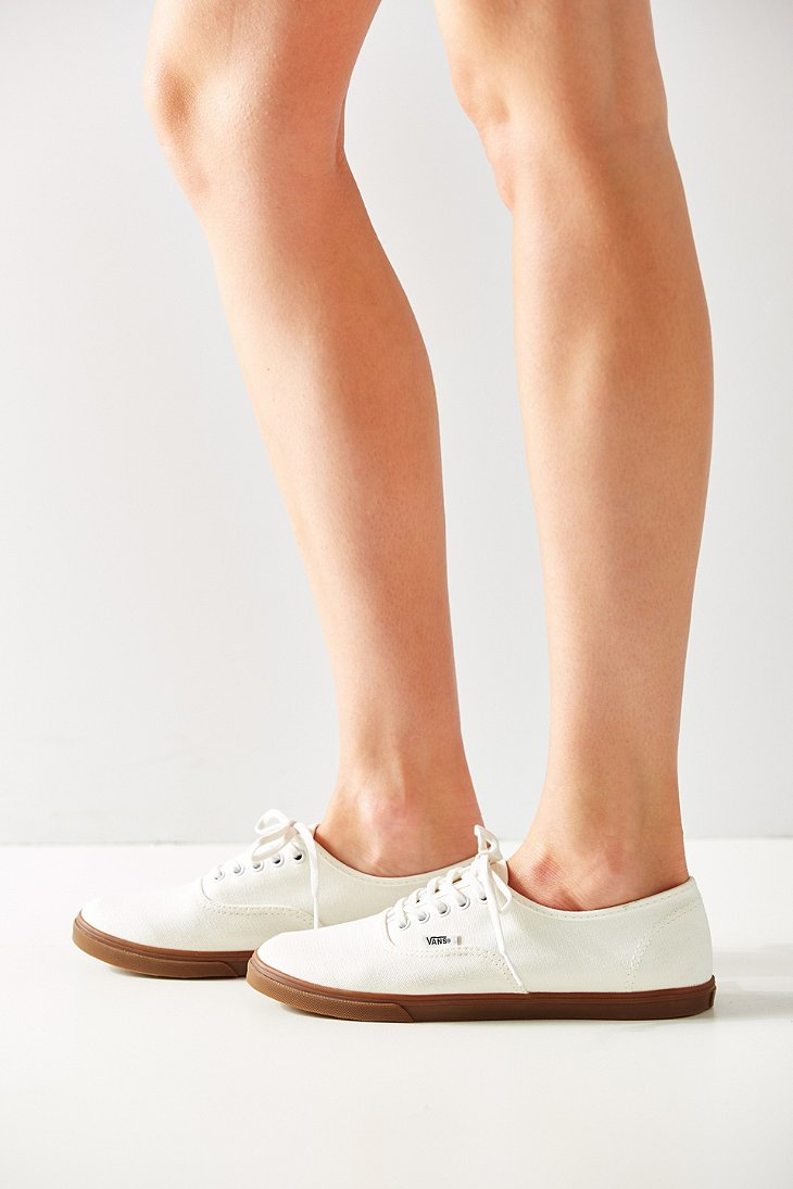 121af21b77 Lyst - Vans Gumsole Authentic Lo Pro Sneaker in White