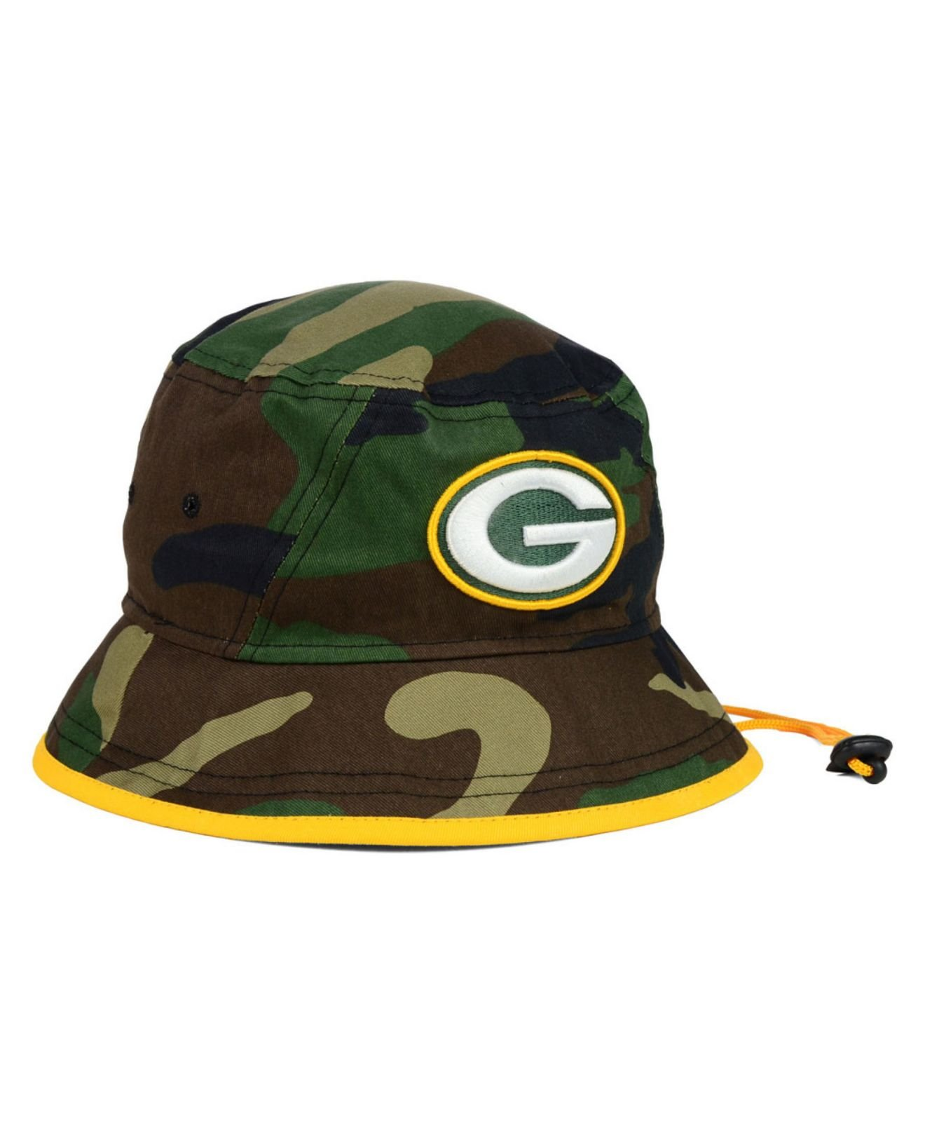 985ad36b3de ... where can i buy lyst ktz green bay packers camo pop bucket hat in green  for