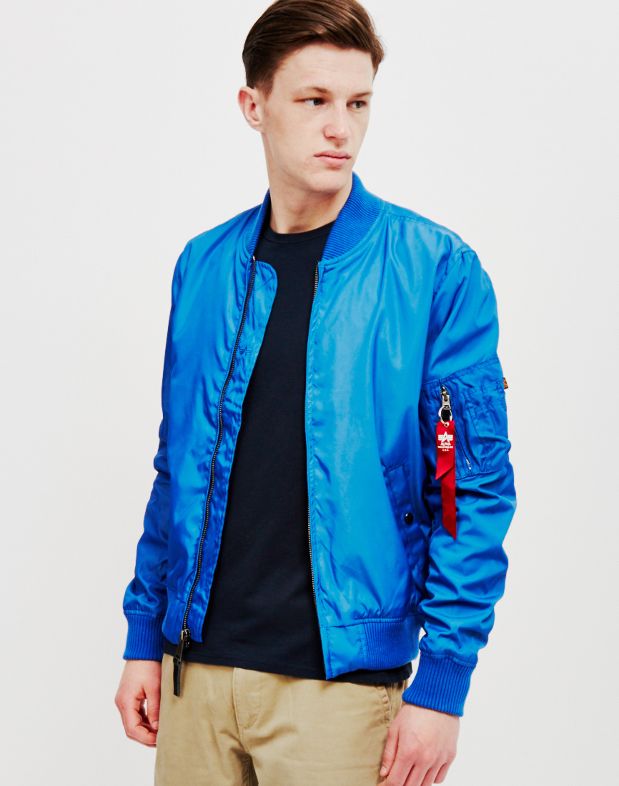 Alpha industries Ma-1 Tt Bomber Jacket Pacific Blue in Blue for Men   Lyst