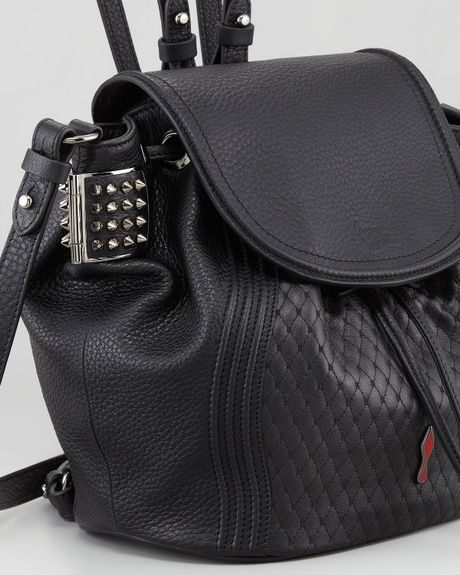 Christian Louboutin Dompteuse Spiked Backpack Bucket Bag