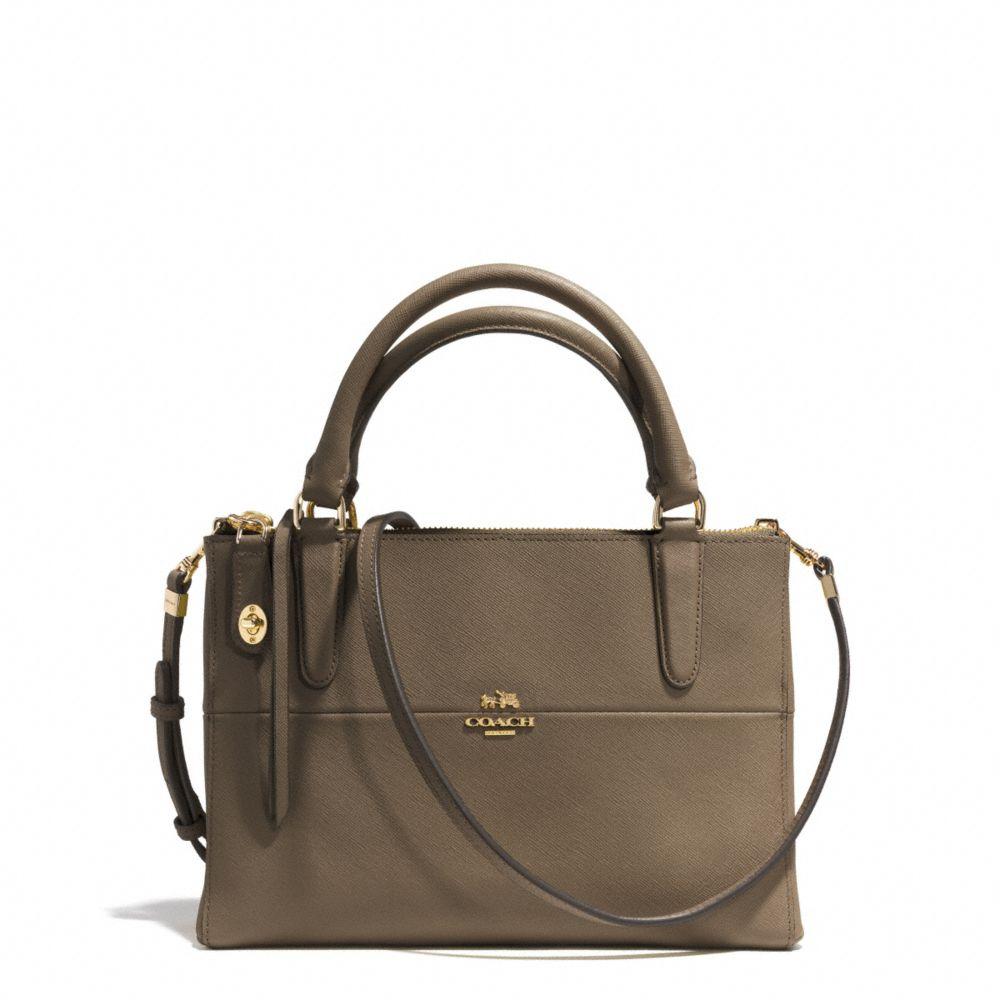 coach the mini borough bag in saffiano leather in green