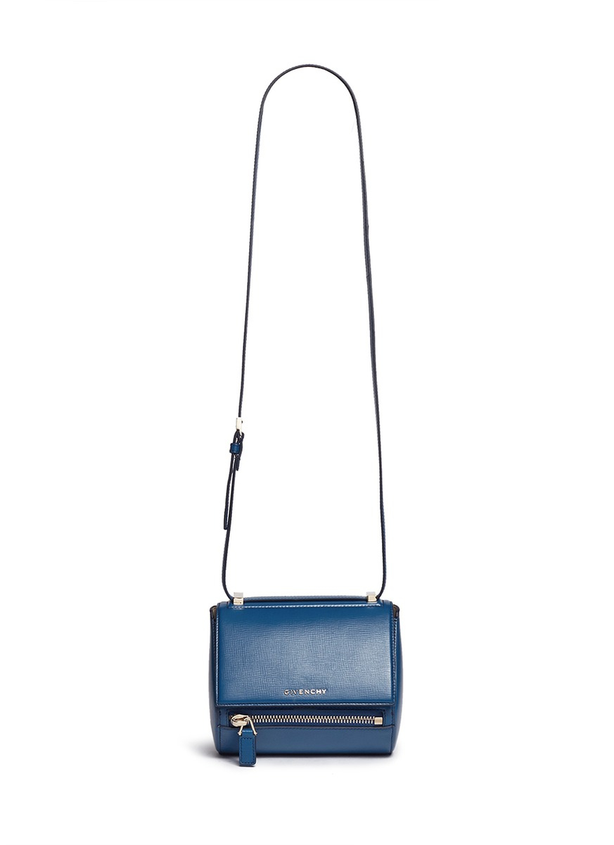 12918af18364 Lyst - Givenchy  pandora Box  Mini Leather Bag in Blue