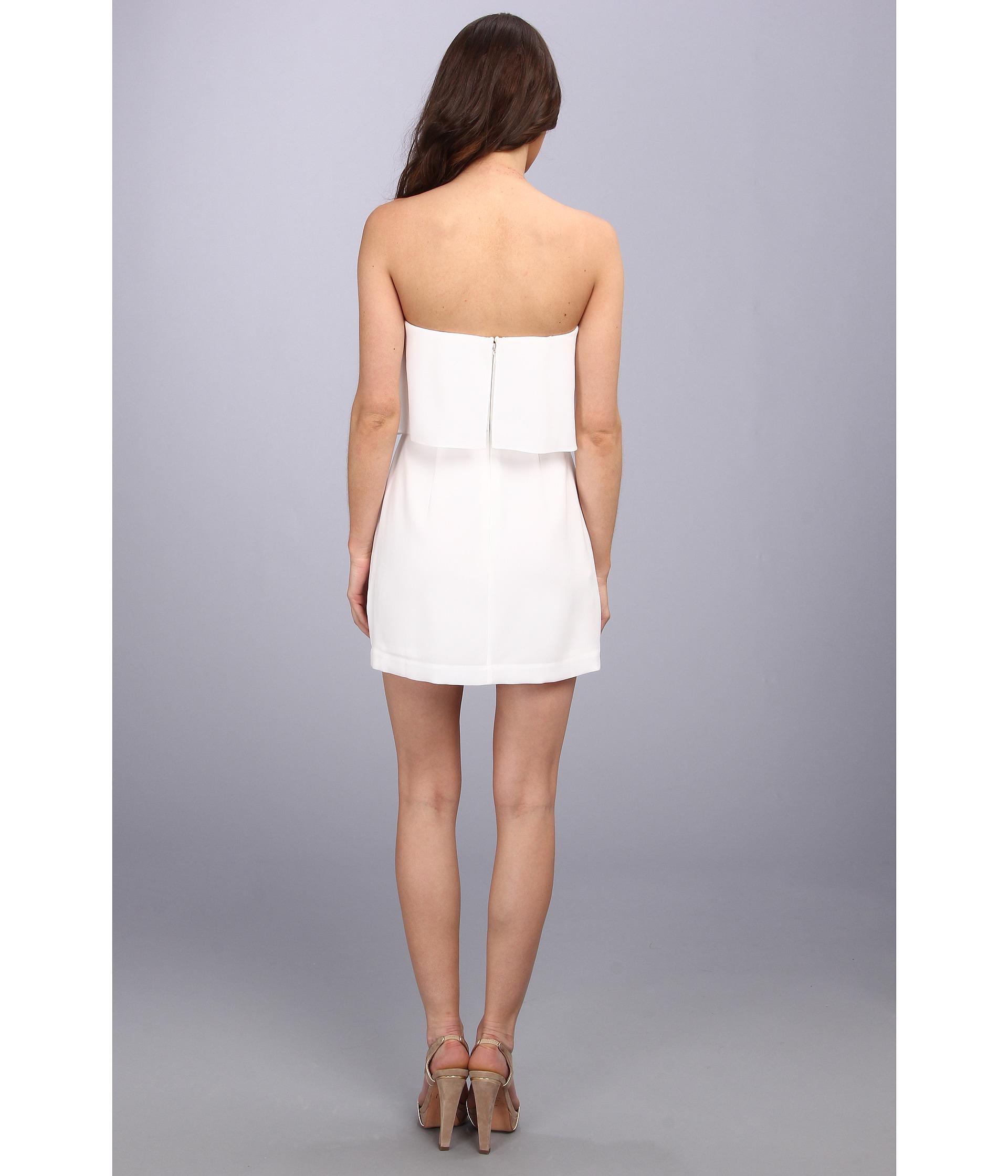 b4d471f1177 BCBGMAXAZRIA Kate Strapless Dress in White - Lyst