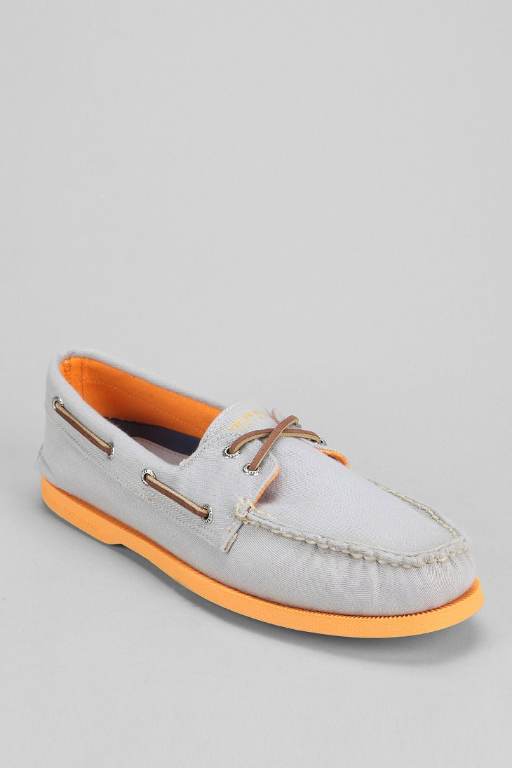 Sperry Top-sider Topsider Authentic Original 2eye Soft Canvas Boat Shoe In Gray For Men (GREY ...