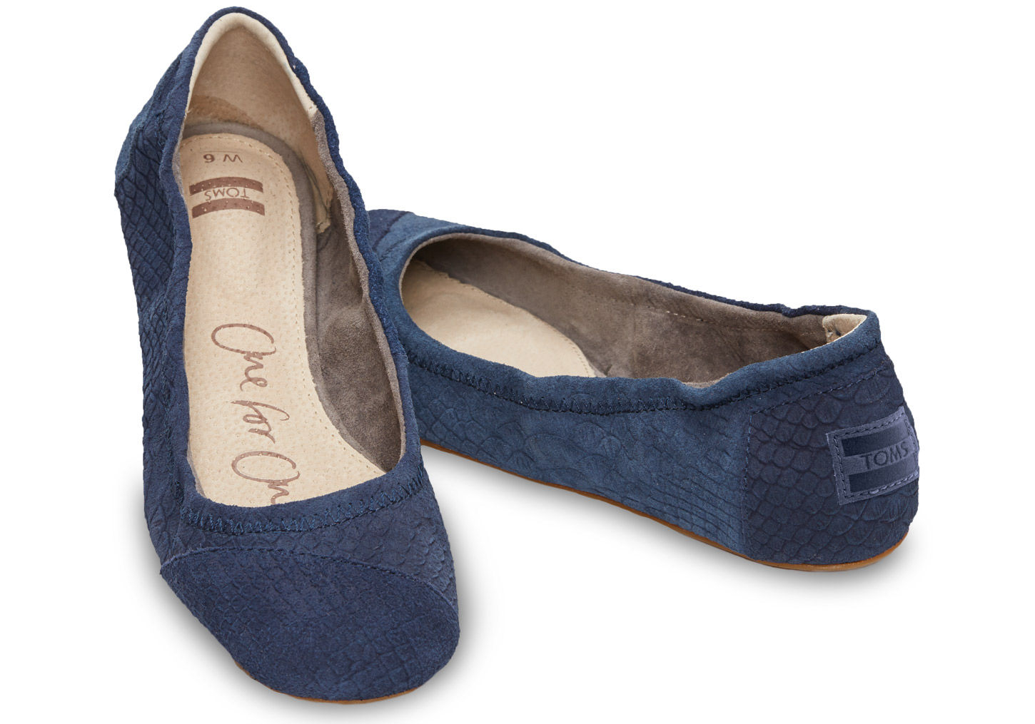Navy Ballet Flat Shoes