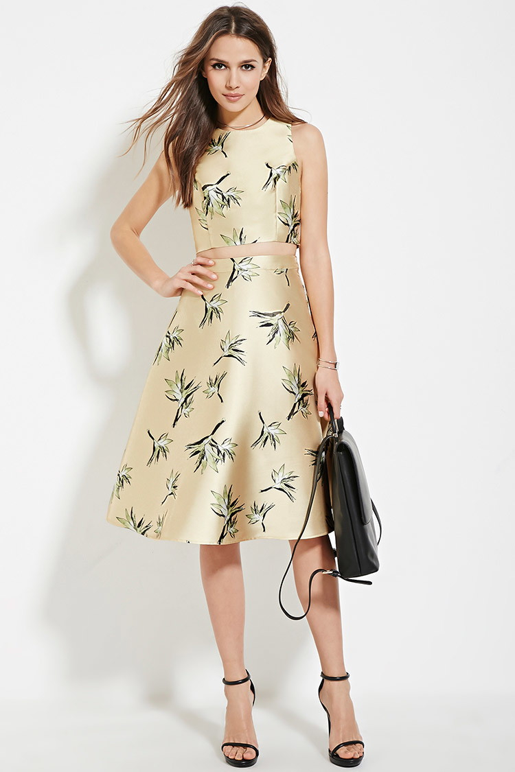 Lyst Forever 21 Contemporary A Line Skirt In Yellow