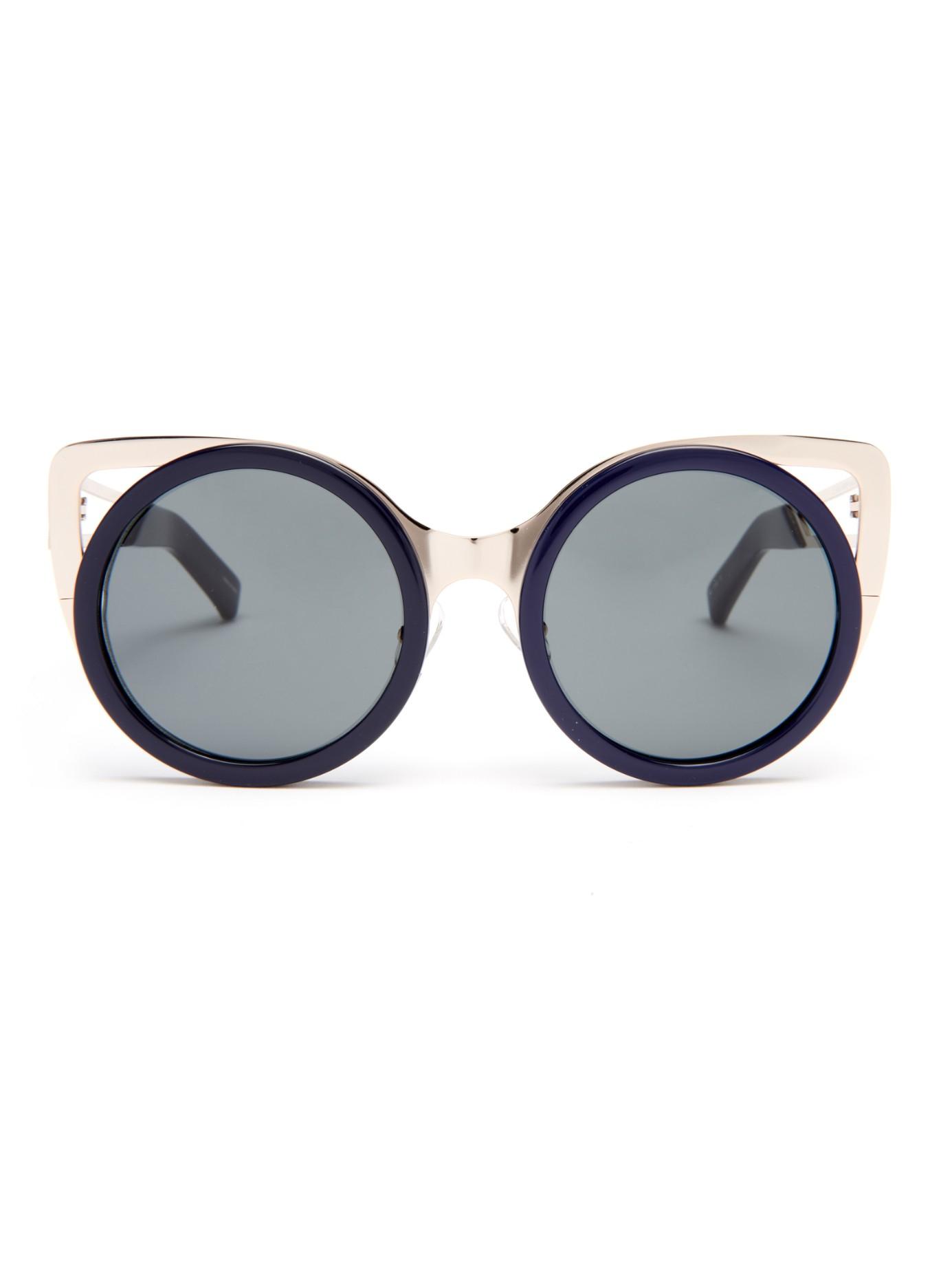 2e191c2740f Erdem X Linda Farrow Cat-eye Sunglasses in Blue - Lyst