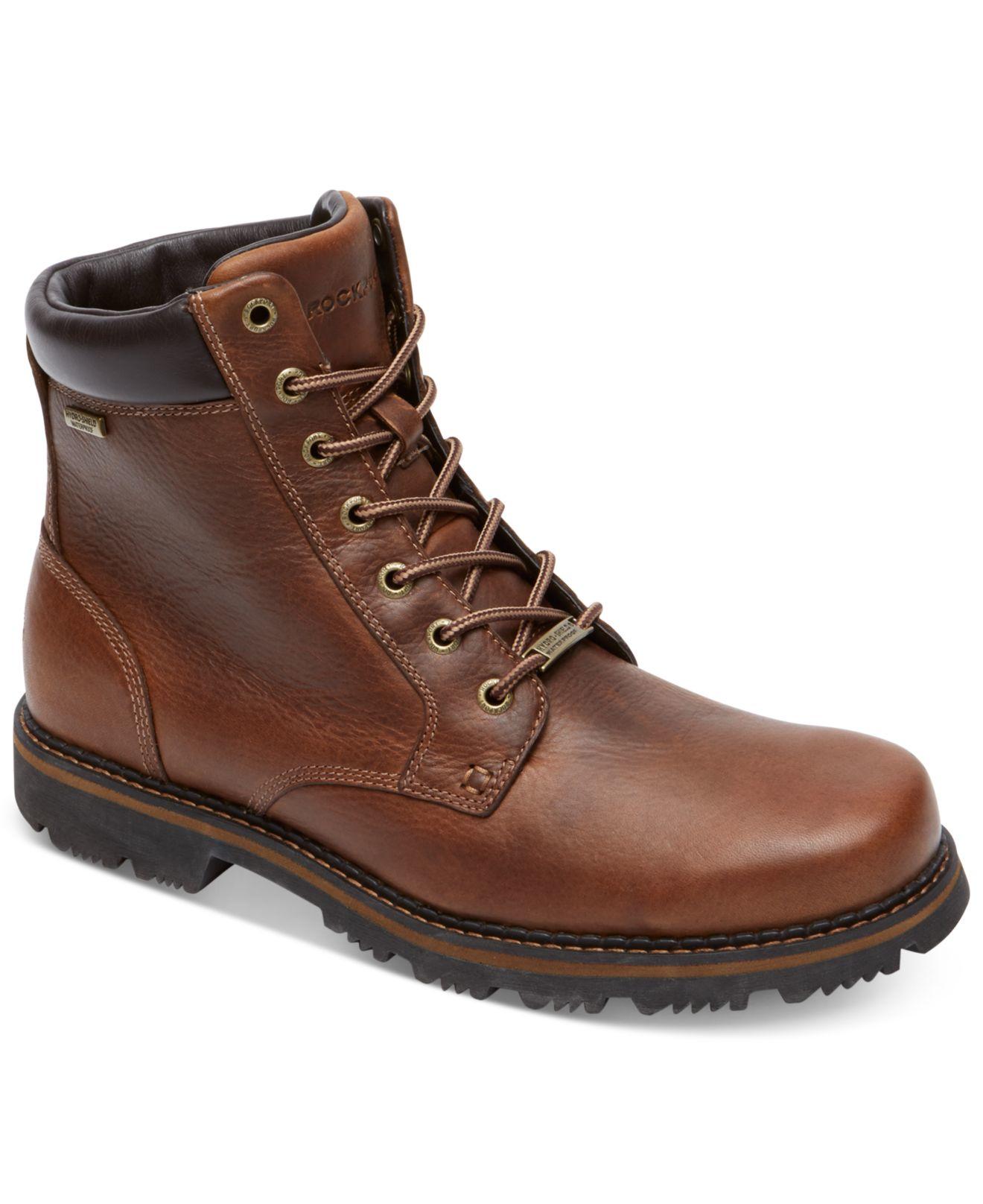 Lyst Rockport Gentry Pt Waterproof Boots In Brown For Men