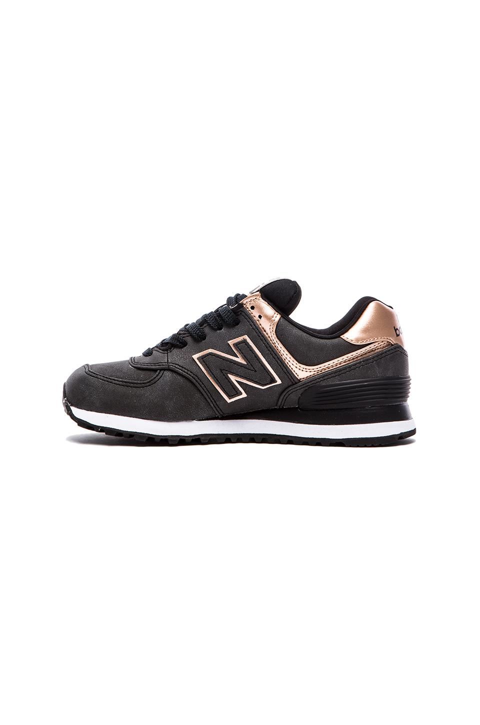 new balance 574 precious metals collection sneaker in charcoal