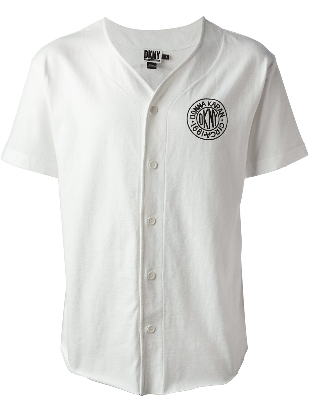 Lyst Dkny Baseball Tshirt In White For Men
