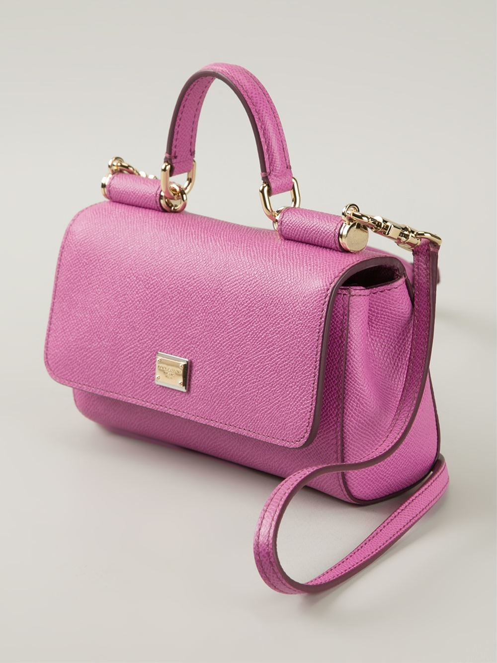 Sicily Small Textured-leather Tote - Pink Dolce & Gabbana kwh3Re2
