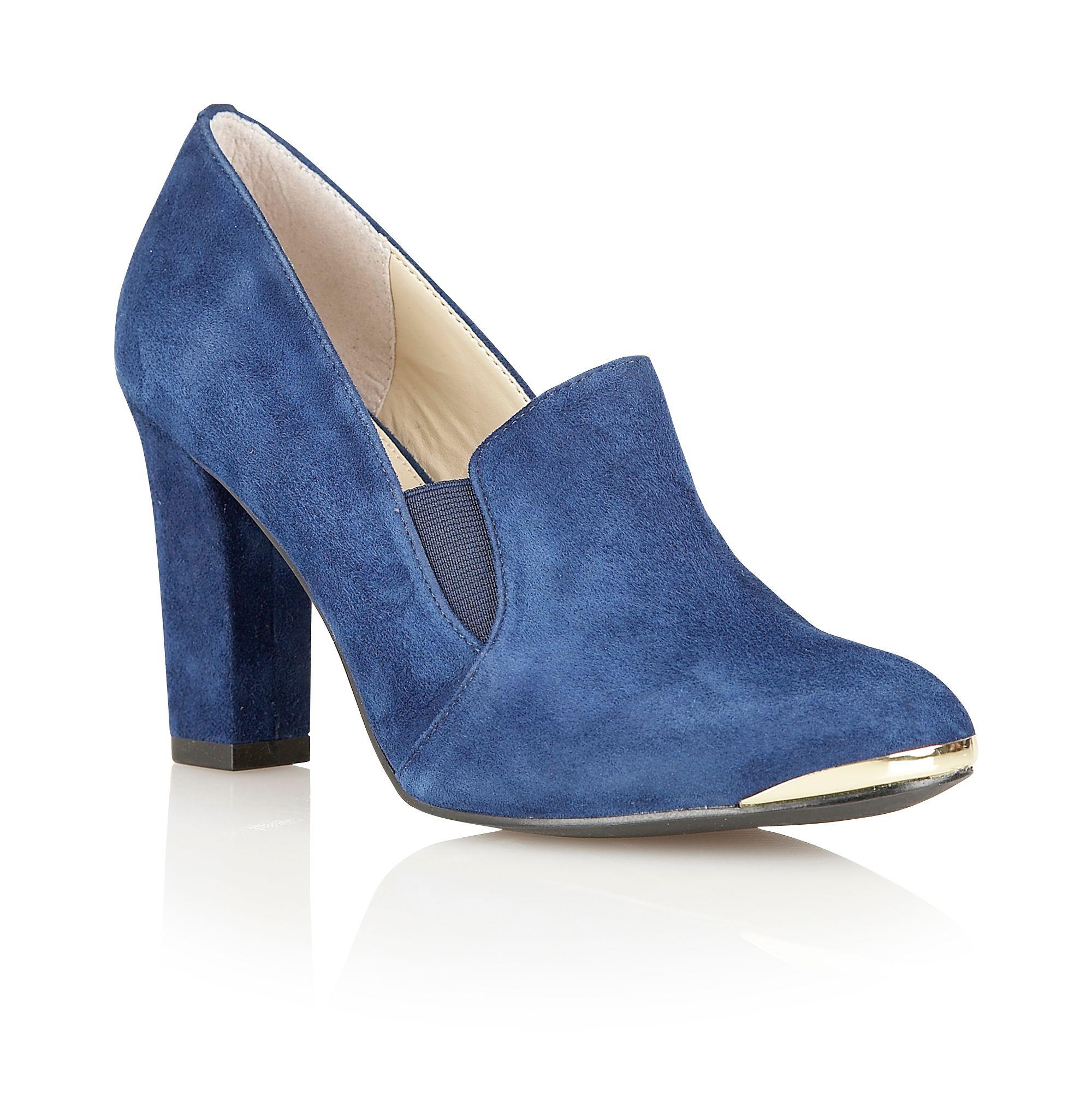 lotus crew high heel shoes in blue lyst