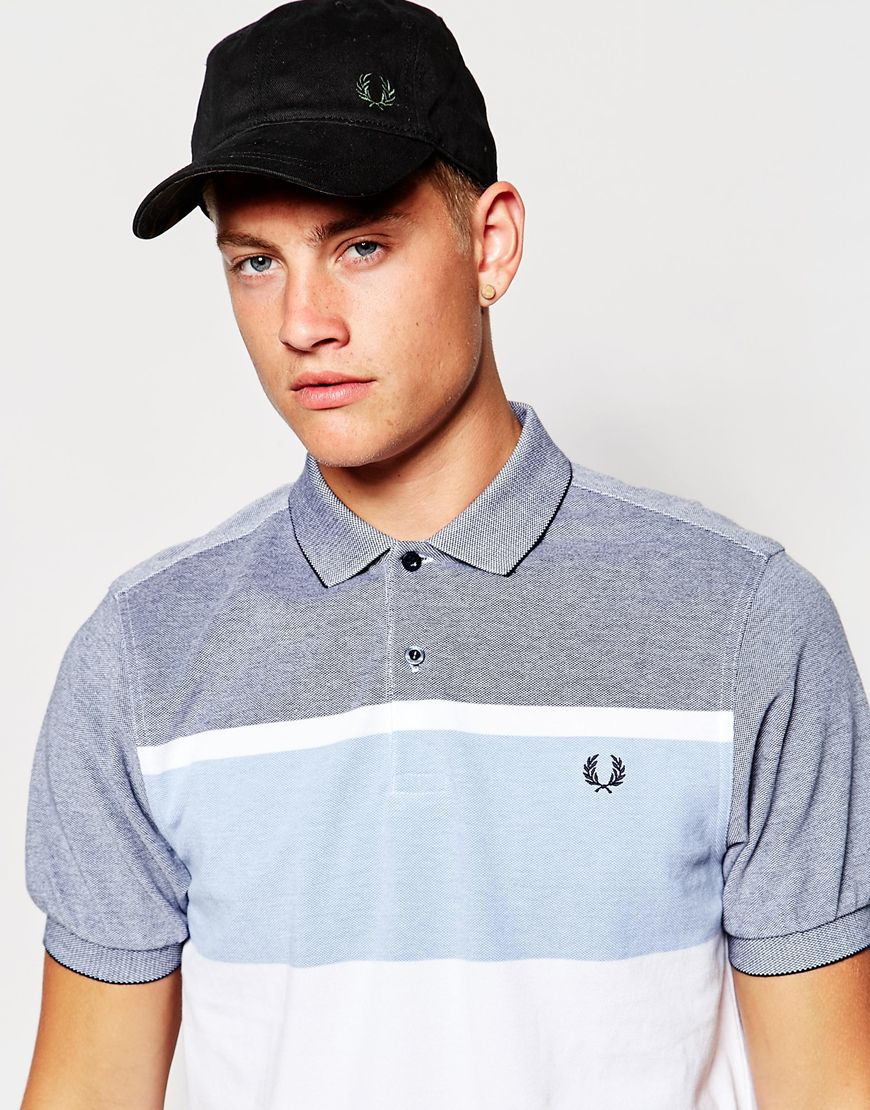 fred perry classic cap in black for men lyst. Black Bedroom Furniture Sets. Home Design Ideas