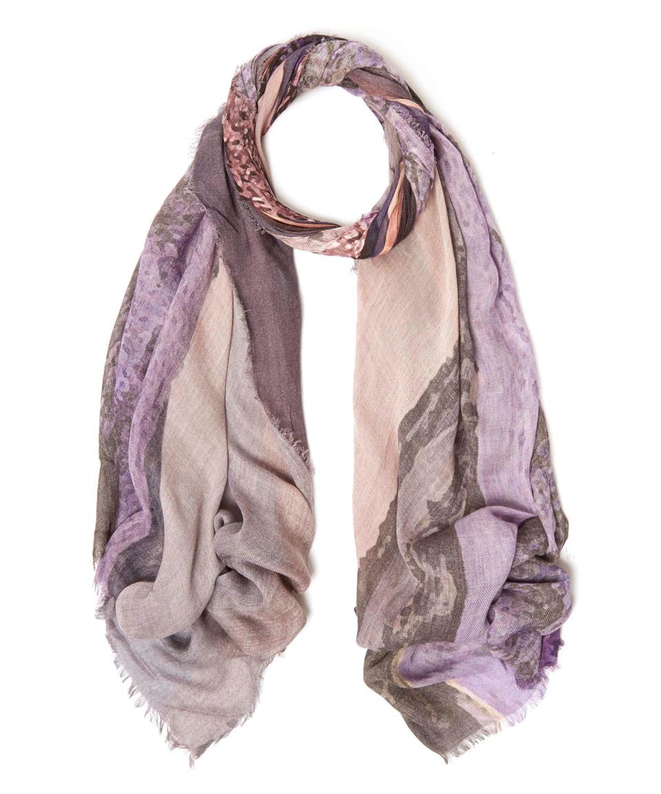 tilo purple lavender field blend scarf in purple
