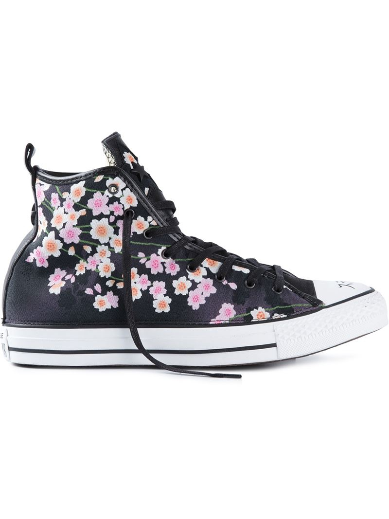 1dac7009ce7 Converse 'Chuck Taylor' Floral Hi-Top Sneakers - Lyst